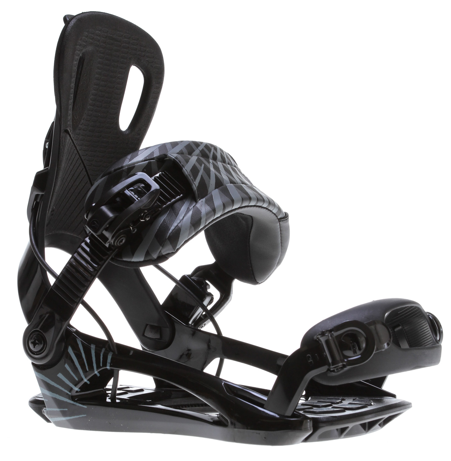 Snowboard The Street binding is for riders who want an all mountain binding that can do it all with comfort and response. New basplate andpremium components add the small details that take you to a new level and make this one of our most popular models.Key Features of the GNU Street Snowboard Bindings:  NEW! Micro buckle 2  Soft top highback padding  Three panel inverse seam ankle strap  NEW! FT4 baseplate  NEW! Snow shedding footbed with shockpads.  NEW! Thin fit toe strap  Flex: 6 - $123.95