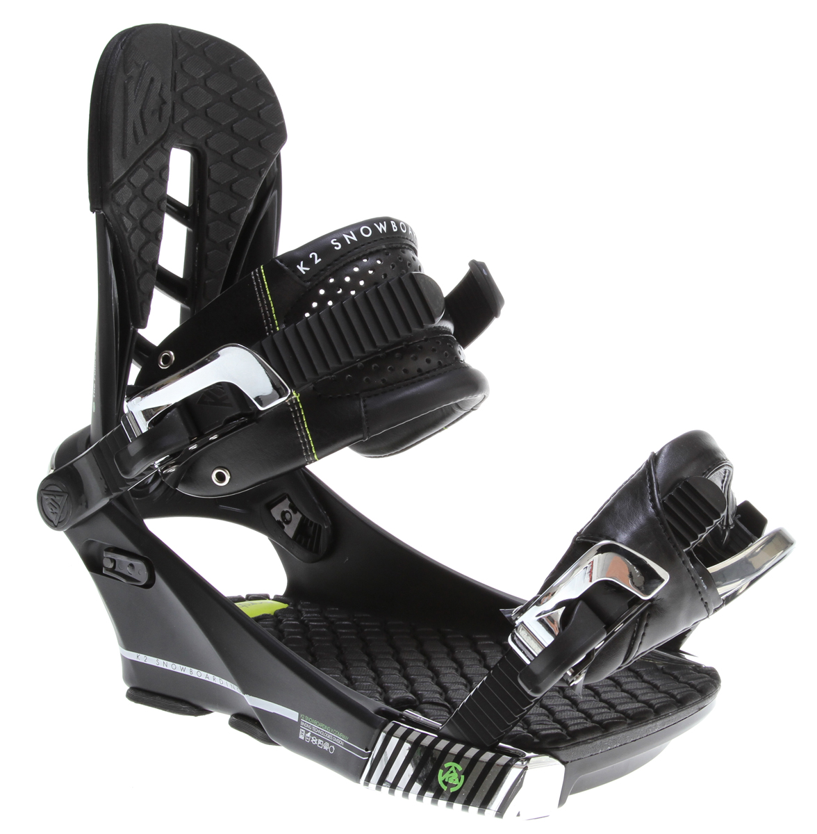 Snowboard SHRED GREED IS GOOD With a solid portfolio of K2s high end technologies, the IPO is no common stock. Harshmellow dampening, paired with the flexible support of Tweakback it a sure thing for any riders long term investment. Key Features of the K2 Company Snowboard Bindings: New! Pro-Fection PC Chassis New! Airlock Tweakback AT Highback Harshmellow Basepad Canted Footbeds Chassis: New! Pro-Fection PC Highback: Airlock Tweakback AT Highback Ankle strap: Thin Cored Caddi Strap Features: Hinge Mount & NEW Cam-Lock Centering Toe Strap: EZ-Set Ratchet: Aluminum Litespeed & EZ Feed Housing Disc: Mulit-Compatible & Offset discs Footbed: Canted Seamless EVA, Harshmellow Shockpads, Tool-Less Adjust Power Ramp - $174.95