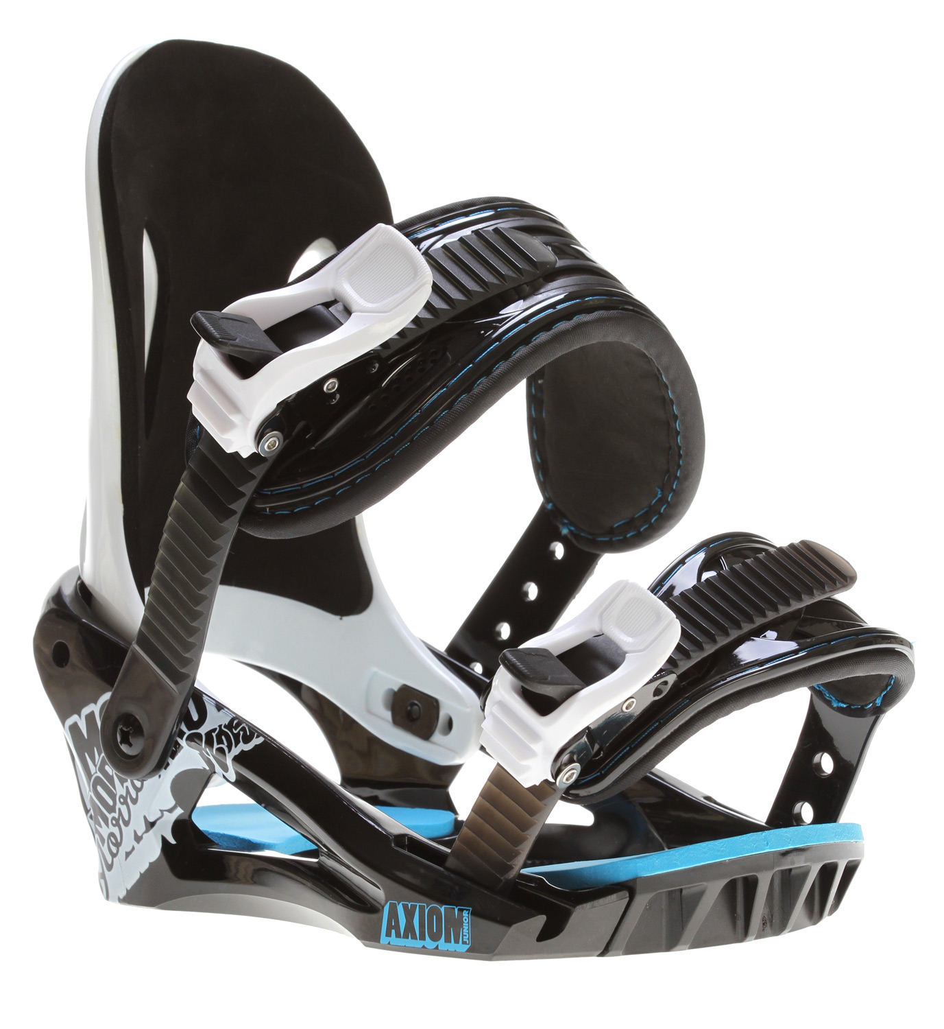 Snowboard The Axiom Jr. snowboard binding is packed with features to give young riders the comfort and performance they need. The Axiom Jr. features our new cored chassis, stance correct highback and tool-less forward lean adjustment. New, quick release buckles and comfy straps make the Axiom Jr. comfortable and easy to use.Key Features of the Morrow Axiom Bindings: NEW! Lightweight AX Chassis with adjustable toe-ramp NEW! Low-profile ratchet buckles Stance correct cored highback for maximum control Tool-less forward lean adjustment Pro-Response and Flipside Straps 360degrees disc mount for virtually limitless stance options - $59.95