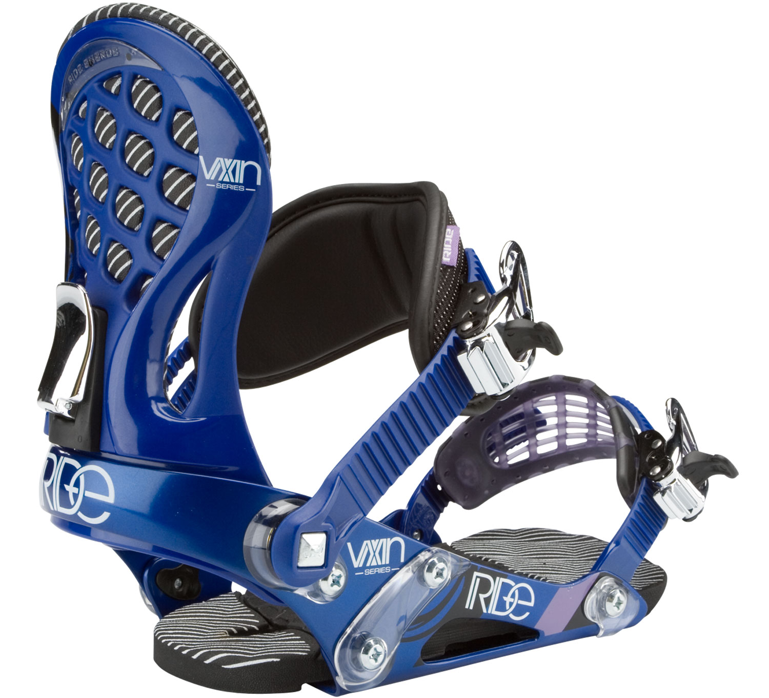 Snowboard Built for hitting everything the mountain has to offer, the Ride VXN Snowboard Binding offers performance-boosting, all-Ride support. Featuring the Wedgie 1.5 footbed with a subtle angle to provide the perfect mix of comfort and support, and the ThinGrip toe strap for snug boot grip and response. Packed with features, you won''t lack comfort or style with this versatile performance binder.Key Features of the Ride VXN Snowboard Bindings:  Foundation Chassis System  Luxlite Highback  Balance Ankle Strap  New! Thingrip Toe Strap  New! Ultralite Quick-Draw Ratchets  Wedgie 1.5 Footbed  Forged Aluminum Response Disc  Bindings Flex-O-Meter: 4 - $95.95