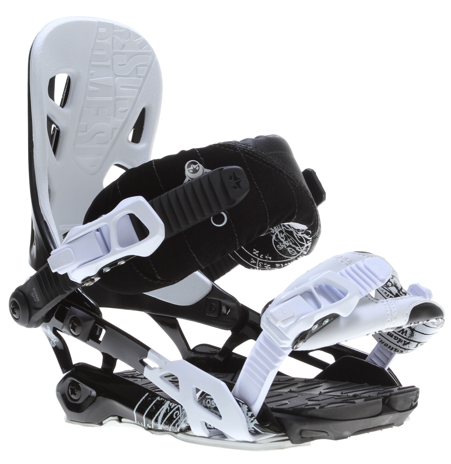 Snowboard Since day 1 of our binding division, the 390 delivers every timeKey Features of the Rome 390 Snowboard Bindings: Flexible for freedom and flow Solid support for heel-to-toe power Deep slashes with heavy leverage and perfect rail balance Narrow baseplate footprint that limits binding interference for natural board feel Contour ankle strap: plush feel for maximum comfort on long days with a dog-bone shape for flexible tweakage Openform toe strap: grabs the bottom and top of the boot for maximum hold with minimal pressure, open coverage and light weight Autostrap: keep your straps out of your foot bed in an easily accessible position that bounces contour ankle strap V-rod baseplate Underwrap.2 heel hoop 390 asym highback Subbase v-pad Rome customization foundation Rome quicktech foundationback to strap down quickly and efficiently. - $160.95