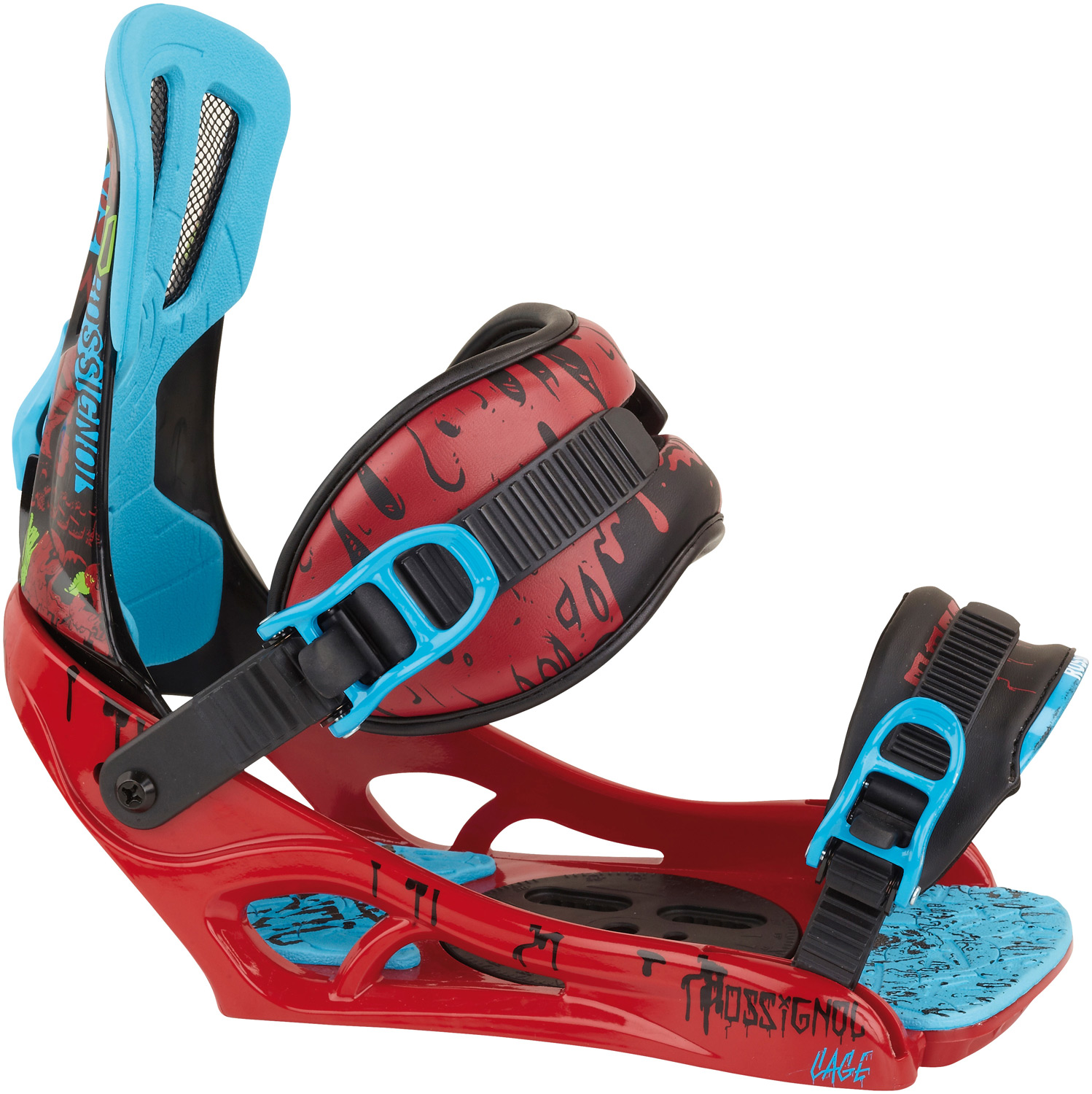Snowboard New from the ground up, the Rossignol Cage V1 Snowboard Binding sets the new standard for performance and price. With features like Rossignol's new CPU Baseplate and Mainframe Highback, new cored out Pounder Straps and tool free toe ramps with EVA Puffy Pads, the Cage will make you wonder why you'd ever need more from a binding.Key Features of the Rossignol Cage Snowboard Bindings: CPU Baseplate Mainframe Highback Pounder Straps Puffy Pad Footbed Alumalight Buckle Levers - $90.95