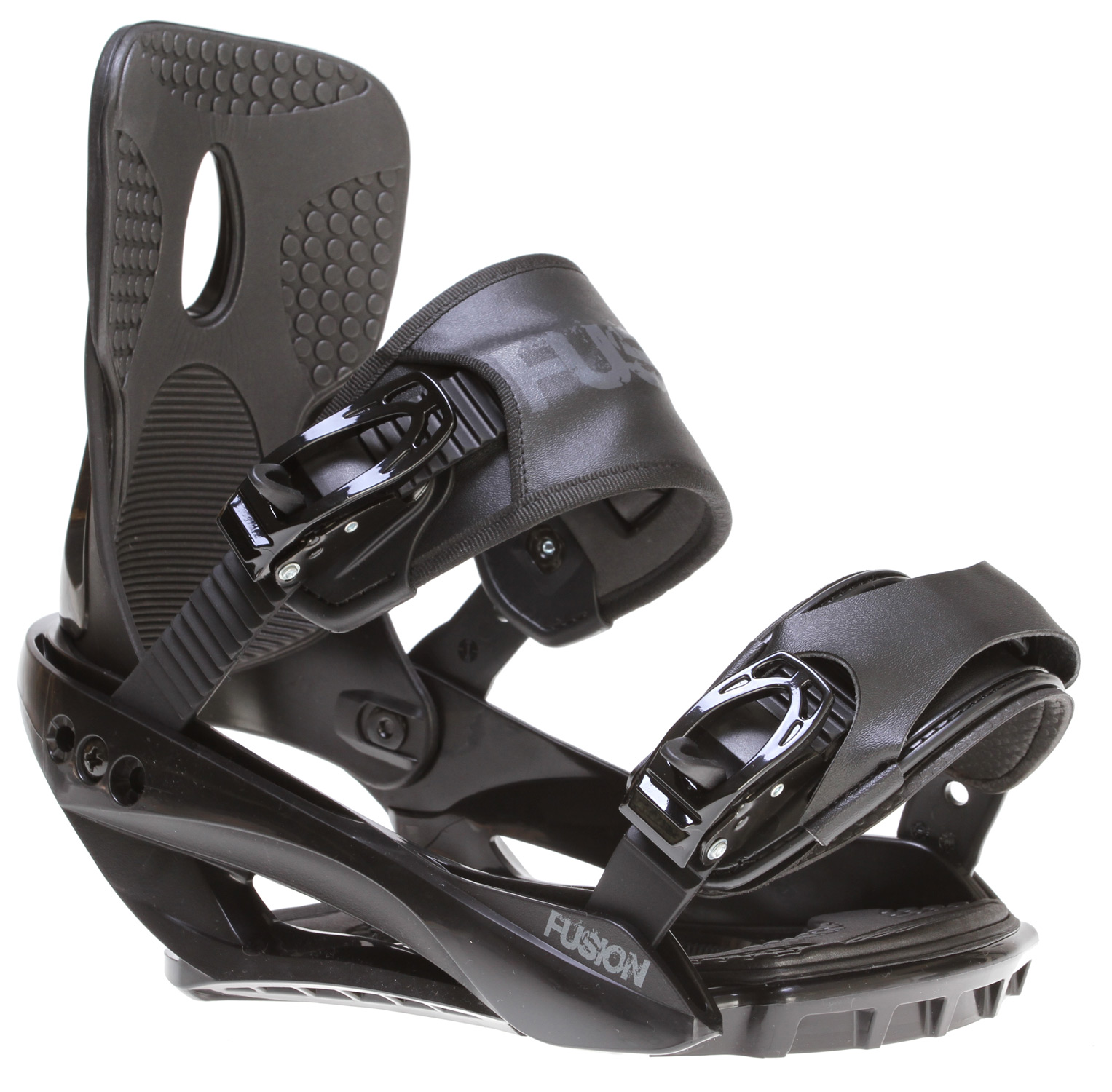 Snowboard These bindings were made for stomping and that is just what they will do! This strap contraption features a fiberglass reinforced plastic baseplate, lightweight cored highback and comfortable sewn straps. With a heavily padded footbed, metal ratchets and quick adjust hardware these beasts are ready to shred the slopes but not your wallet.Key Features of the Sapient Fusion Snowboard Bindings:Fiber reinforced nylon  Cored highback  Metal ratchets  Sewn straps with quick adjust ankle - $71.95