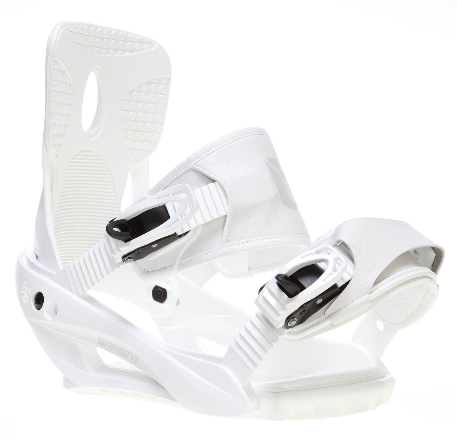 Snowboard These bindings were made for stomping and that is just what they will do! This strap contraption features a fiberglass reinforced plastic baseplate, lightweight cored highback, and comfortable sewn straps. With a heavily padded footbed, metal ratchets and quick adjust hardware these pups are ready to shred the slopes but not your wallet. Finally, they only come in white so they look great on any board.Key Features of the Sapient Zeus Snowboard Bindings:  Fiber reinforced nylon  Cored highback  Metal ratchets  Sewn straps with quick adjust ankle - $71.95