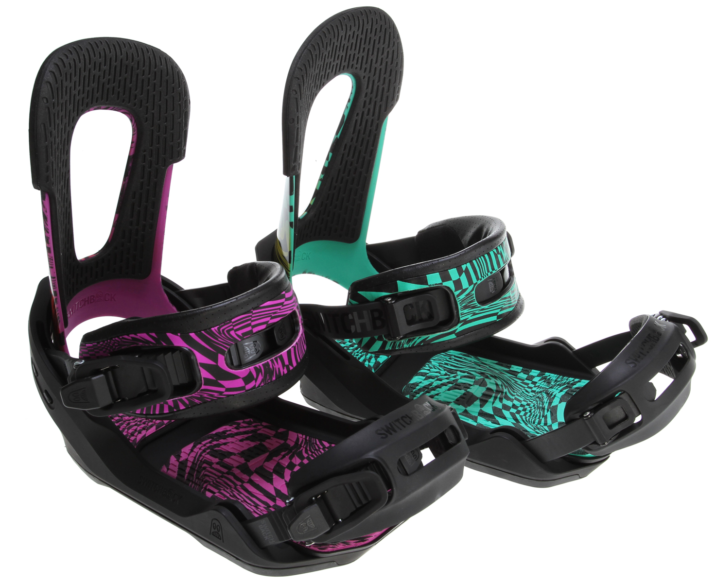 Snowboard TOTALLY TOOL-LESS! Switch your highback, straps and padding without tools. Go from highback to no-back and switch back again anywhere easily in seconds.Key Features of the Switchback Eiki Pro Snowboard Bindings: TOOL-LESS STRAP CONNECTION: Swap ankle straps or adjust their position quickly without the need for screws or tools. NO-BACK INSERT: Swap a highback for the no-back insert for a surf feel on a pow day or skate-like ride in the rail park. Snap in, snap out ...Easy! TOOL-LESS HIGHBACK: Change highbacks in seconds with the Switchback tool-less mounting system. Works even when you are out riding so you can always keep your options open. NATURAL PIVOT FORWARD LEAN: Adjust your forward lean around the most natural pivot point. No boot movement and no gaps makes for a better fit. OFFSET DISC OPTION: We deliver our Bindings: Less plastic to the board means a more natural flex pattern under your boot. HEEL IMPACT PAD: We took out almost all the hard stuff under your heel and replaced it with a big soft cushioning padding block to dampen impact on those hard heelside landings. TOOL-LESS FOOTPAD: No more annoying screw to get to your disc! Change the padding, adjust the toe ramp position and access the mounting disc without tools. Choose from 4 positions. BUMPER CORNERS: Extra dampening in the corners of your base padding protects your board from wear and impact damage. DIRECT STEERING: Thinner padding in the right places makes for a smoother transfer of power to your board. Thicker corner base padding helps dampen impact. - $167.95