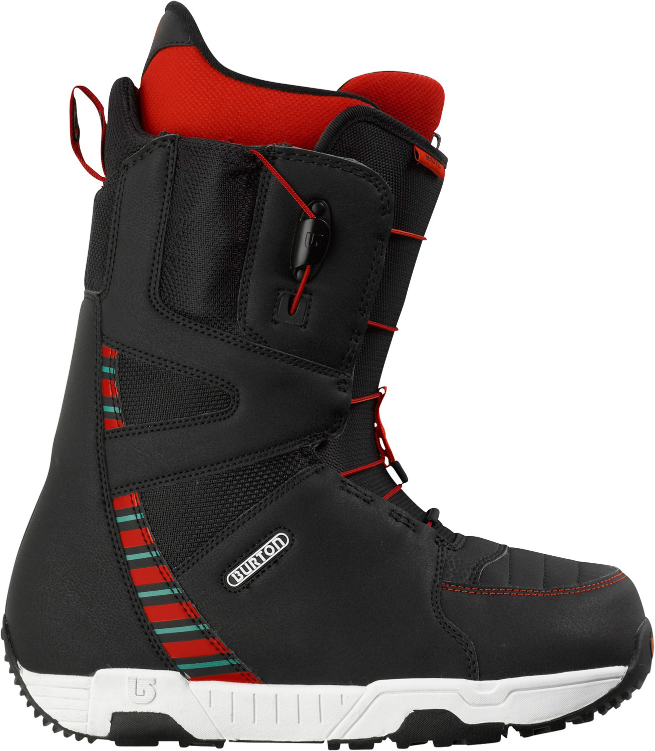 Snowboard Shred better with the world's bestseller.Key Features of the Burton Moto Snowboard Boots: Support: 3 Shrinkage™ Footprint Reduction Technology Lacing: Speed Zone™ Lacing System for True Zonal Lacing Control Liner: Imprint™ 1 Liner with Integrated Lacing Cushioning: Dual-Component Outsole with EVA Cushioning and Rubber Ice Spikes Flex and Response: Grip Fit Ribs and Soft Flex Thin Profile 3D® Molded Tongue Comfort: NEW Total Comfort Construction, Snow-Proof Internal Gusset, and Level 1 Molded EVA Footbed The World's Bestselling Snowboard Boot Eleven Years Running - $119.95