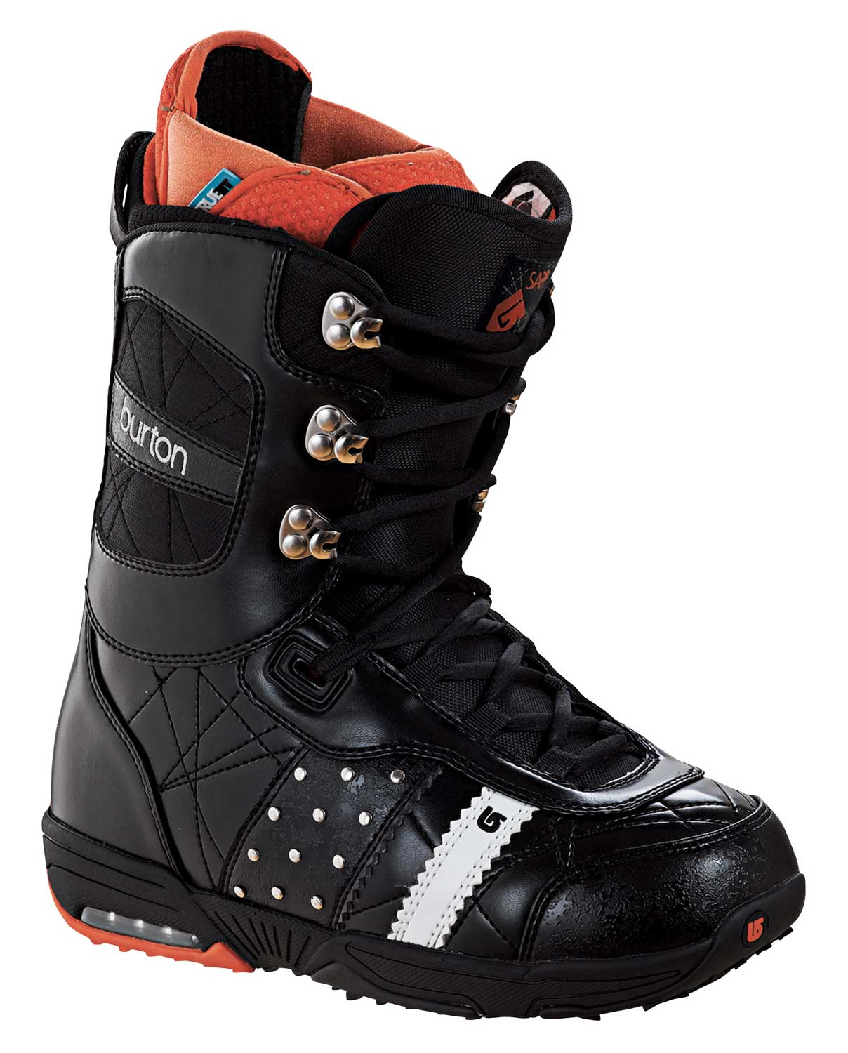 Snowboard The Sapphire combines a smooth flex with skate-shoe comfort, cushioning, and style to create that freestyle feel you have been searching for. So slip 'em on and you will see why pros like Natasza Zurek, Elena Hight and Molly Aguirre refuse to ride anything else.Key Features of The Burton Sapphire Women's Snowboard Boots.: Lacing: 2:1 Power Lacing Support: 4 Liner: Imprint3 Liner with True Fit Design, TaiPanel, EZ Entry Liner System, Plush Cuff, Power Panel 2.0, Supercuff with J-Bar Adjustable Heel Hold System and Aegis Antimicrobial Coating Cushioning: Lightweight Outsole with Air Cushioning Flex and Response: Softer Flexing Shell Materials, Articulating Cuff, Flex Spine 2.0 Backstay and Medium Flex Thin Profile 3D Molded Tongue Comfort: Molded EVA Footbed with ESS Support Shank, OUTLAST Adaptive Comfort Technology and Aegis - $69.95