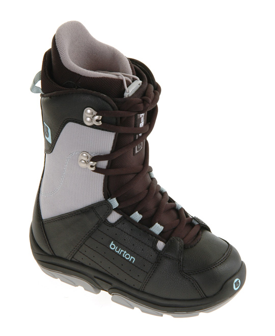 Snowboard Ride all day in comfort, and avoid those sore achy feet at the end with the Burton Tribute snowboard boots. They offer a comfortable responsive ride with their molded EVA footbed, and the synthetic leather out stands up to the punishment you dish out. The two-part outsole is EVA cushioned for comfort and traction in slippery spots. The 3D molded tongue provides a secure fit while remaining supportive. Burton quality makes their Tribute snowboard boots superb all day performers.Key Features of the Burton Tribute Snowboard Boots: Synthetic Leather and Textile Shell with Toe Lace Loop Protectors 2-Part Outsole with EVA Cushioning 3D Molded Tongue Matrix 1 Liner with Stretch Lycra Toe Panels Molded EVA Footbed Support: 4 - $43.95