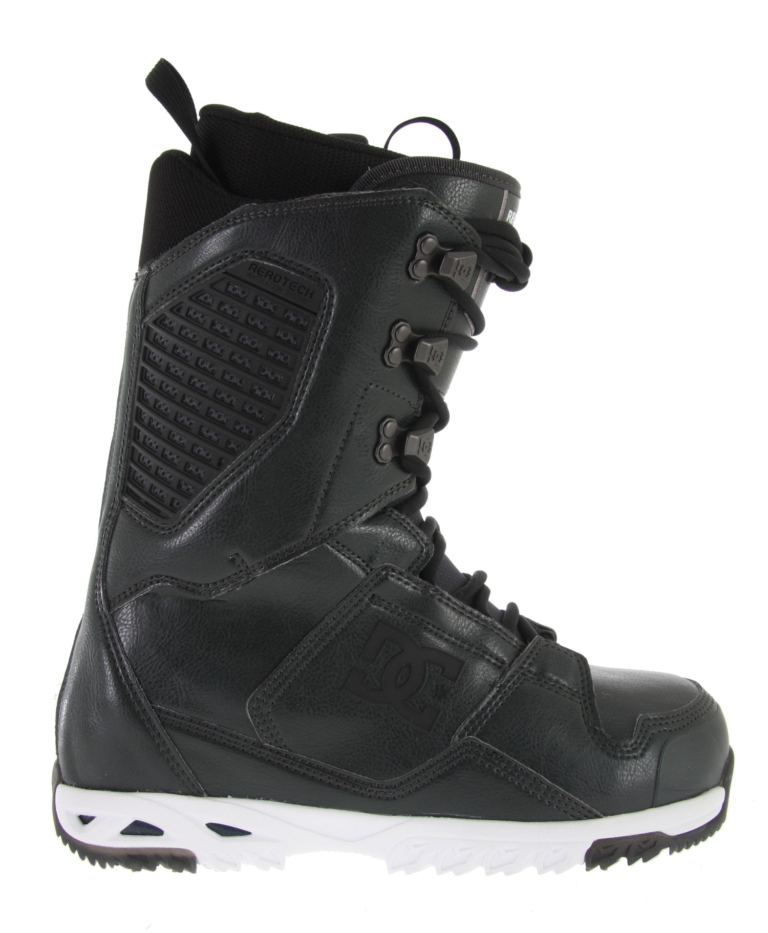 Snowboard Key Features of the DC Ceptor Snowboard Boots: Liner Tech - Alpha Unitlite Outsole With Impact G Aerotech Ventilation System 3D Tongue Articulated Upper Cuff Internal Ankle Harness Molded Backstay Wrap Lock Harware Direct Power Lacing Welded Toe Reinforcement - $149.95