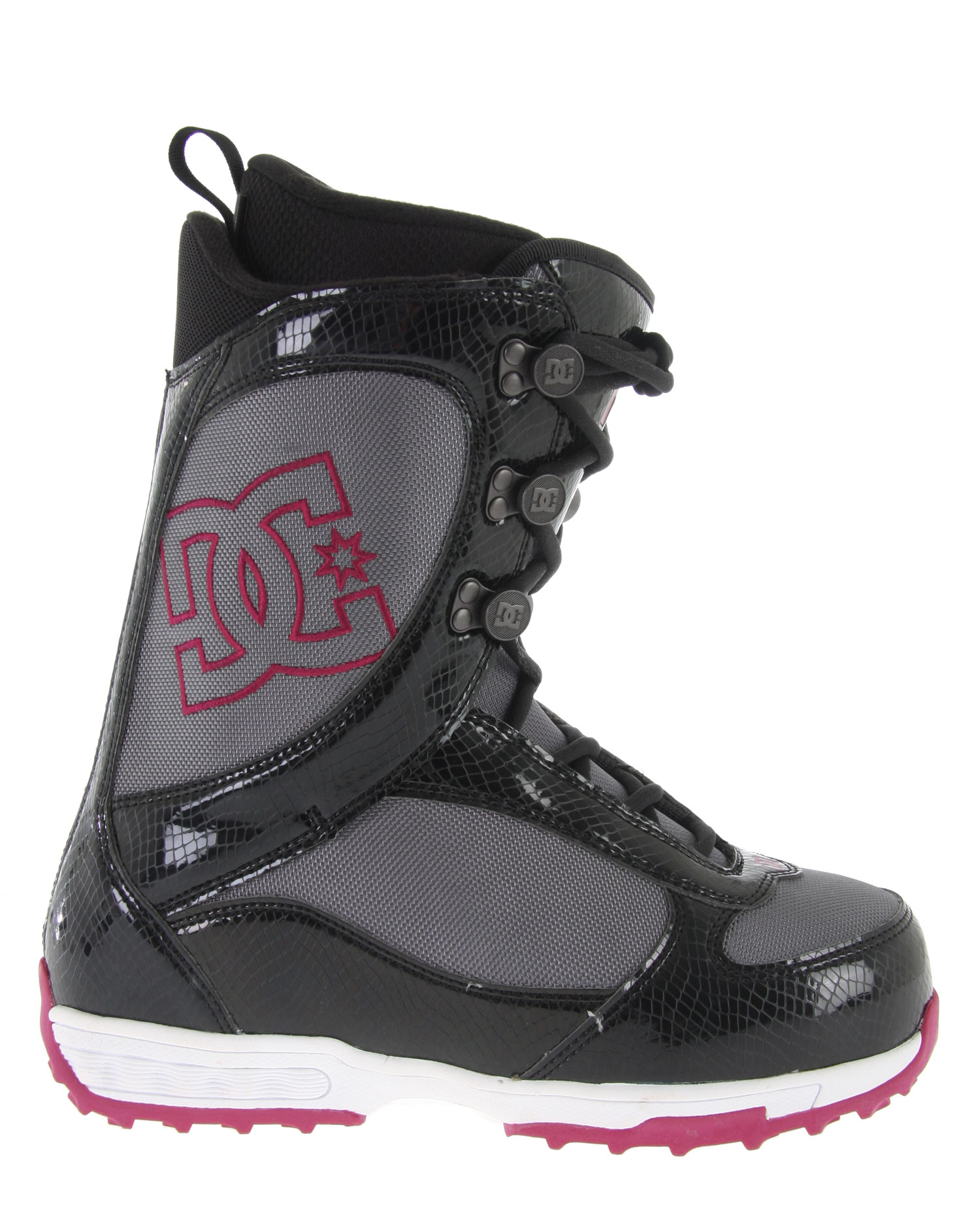Snowboard The DC Company is known for delivering incredible snowboarding equipment like this set of DC Misty Snowboard Boots! This boot has many awesome features that deliver a high degree of performance, comfort and style. The Command Liner keeps your feet warm and comfortable for long days out on the slopes, while an EVA mid-sole and the molded backstay allow for faster overall responsiveness. This boot is sure to please women snowboarders who range from beginner to intermediate riding levels.Key Features of the DC Misty Women's Snowboard Boots:  Command Liner Tech  EVA Midsole  3D Tongue  Articulated Upper Cuff  Internal Ankle Harness  Molded Backstay - $78.95