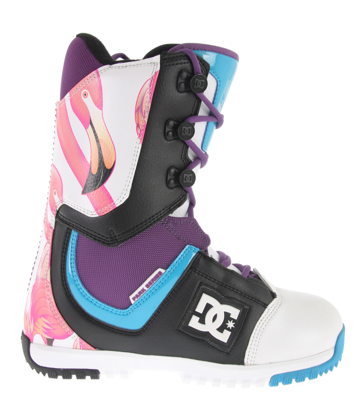 Snowboard These DC Park Snowboard Boots will keep you safe and secure with their modern fit technology. The Synthetic Leather & PU coated mesh will help keep you comfortable no matter how tough the terrain might be. These boots, simply put, provide all of the support you need when snowboarding. They also happen to be extremely stylish and sleek. People will be taking a second glance at these very cool snowboard boots. The DC Park Snowboard Boots will definitely give you a good bang for your buck!Key Features of the DC Park Snowboard Boots: Synthetic Leather & PU coated mesh Traditional Lace Direct Power Lacing 3D Tongue Articulation Welded Backstay Unilite Outsole Park Bravo Liner Flex Rating 6 - $119.95