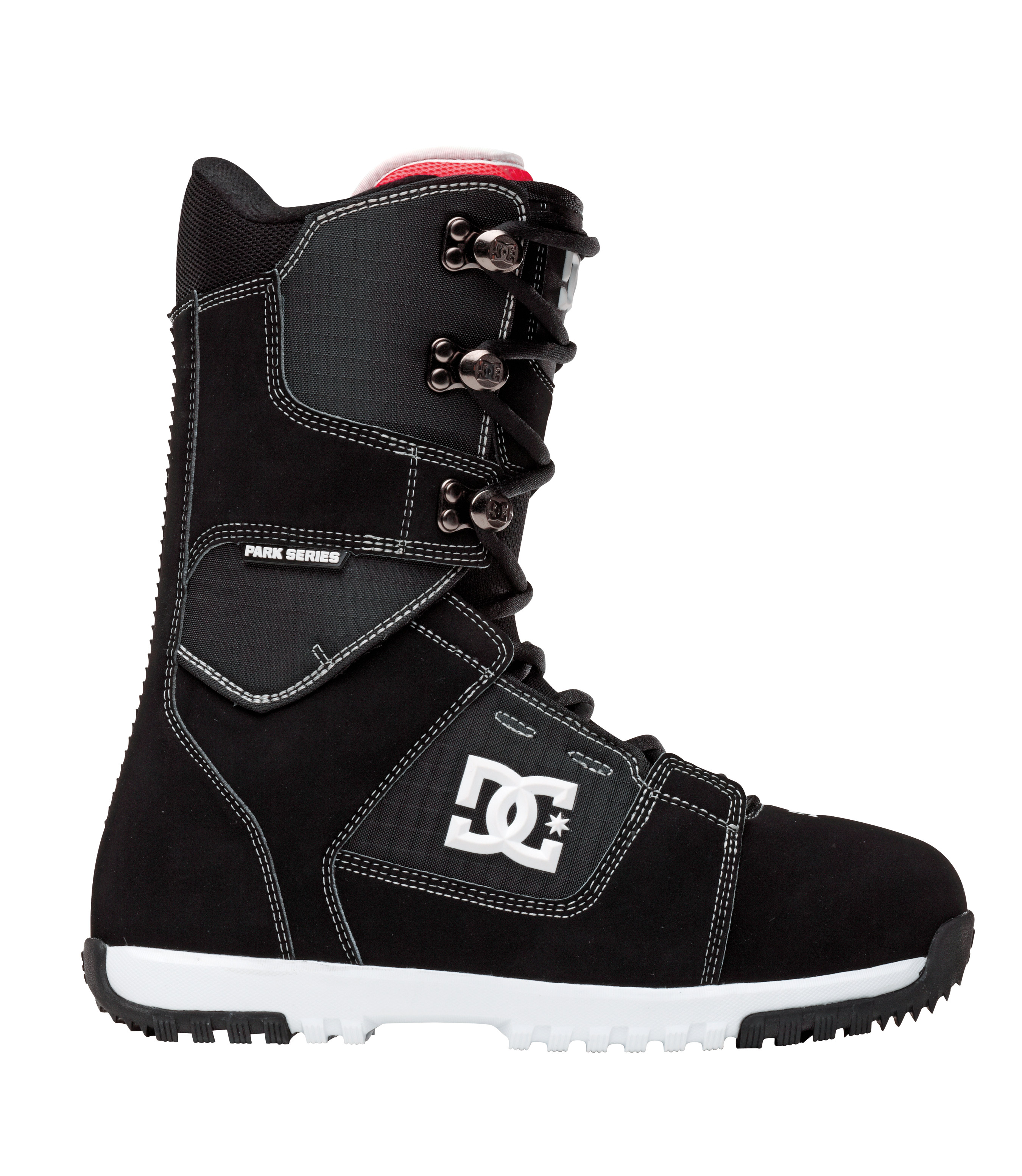 Snowboard The Park series shell and liner interface just got better. With the addition of AEROTECH you now have the best-articulated breathable boot. The boot and liner are a seamless fit. With more color than a double rainbow your bound to find one for your kit this season.Key Features of the DC Park Snowboard Boots: Direct power lacing Wraplock 3D tongue Articulation Molded backstay Unilite Park Bravo Liner Flex rating: 6 - $129.95