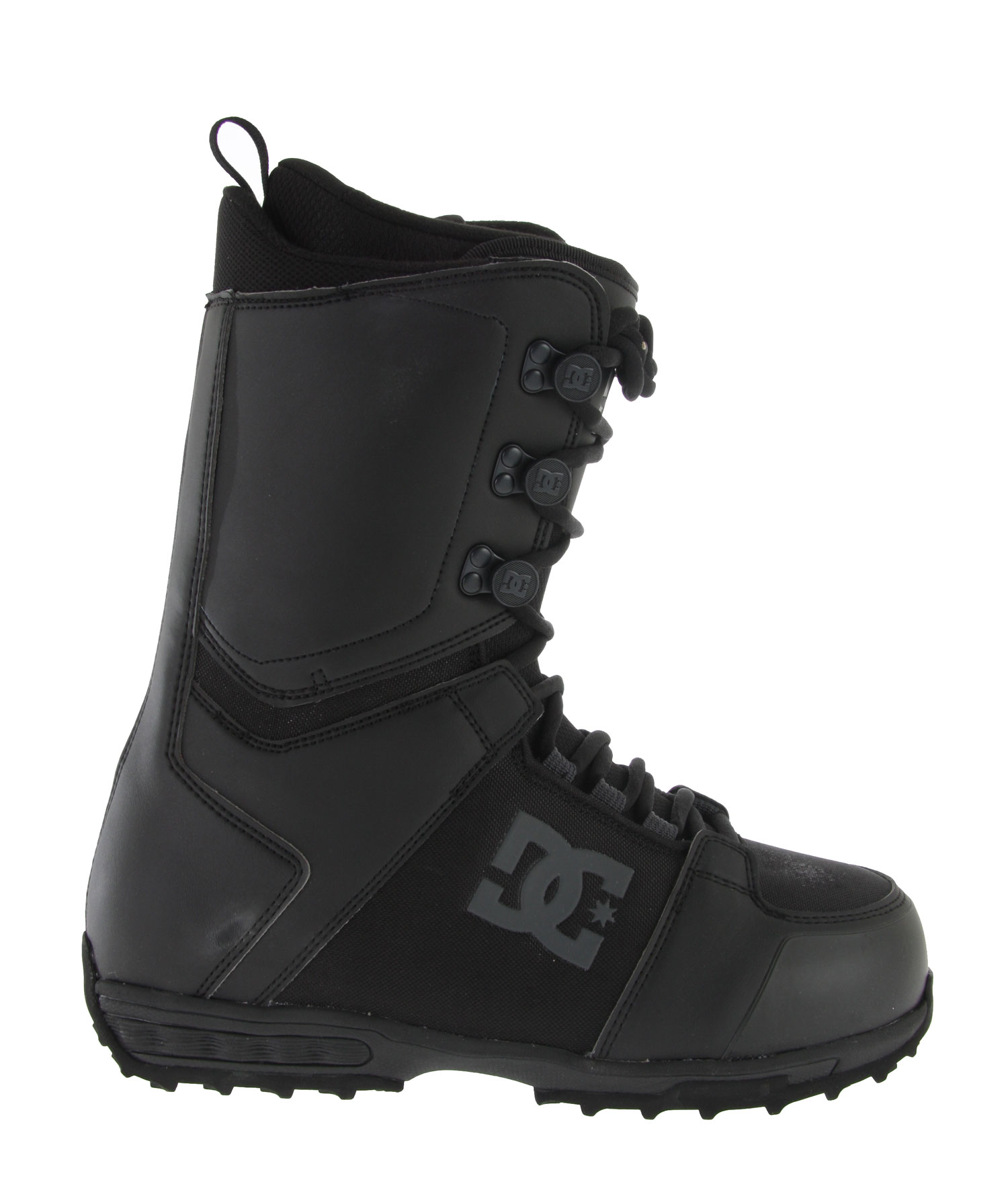 Snowboard The DC Rogan Snowboard Boots are top of the line in style and comfort. These boots feature a welded backstay to keep your feet firm and tracked into the snowboard alignment. Additionally, there is the internal ankle harness to keep your ankles firm and well adjusted while snowboarding. Consequently, there is a command liner that fits securely inside the boots like a thick sock to keep out moisture and cold weather. Moreover, the DC logo boldly stands out on the side of these boots.Key Features of the DC Rogan Snowboard Boots: Synthetic Leather & PU coated mesh Traditional Lace 3D Tongue Articulation Welded Backstay Internal Ankle Harness EVA Midsole Command Liner Flex Rating 6 - $101.95