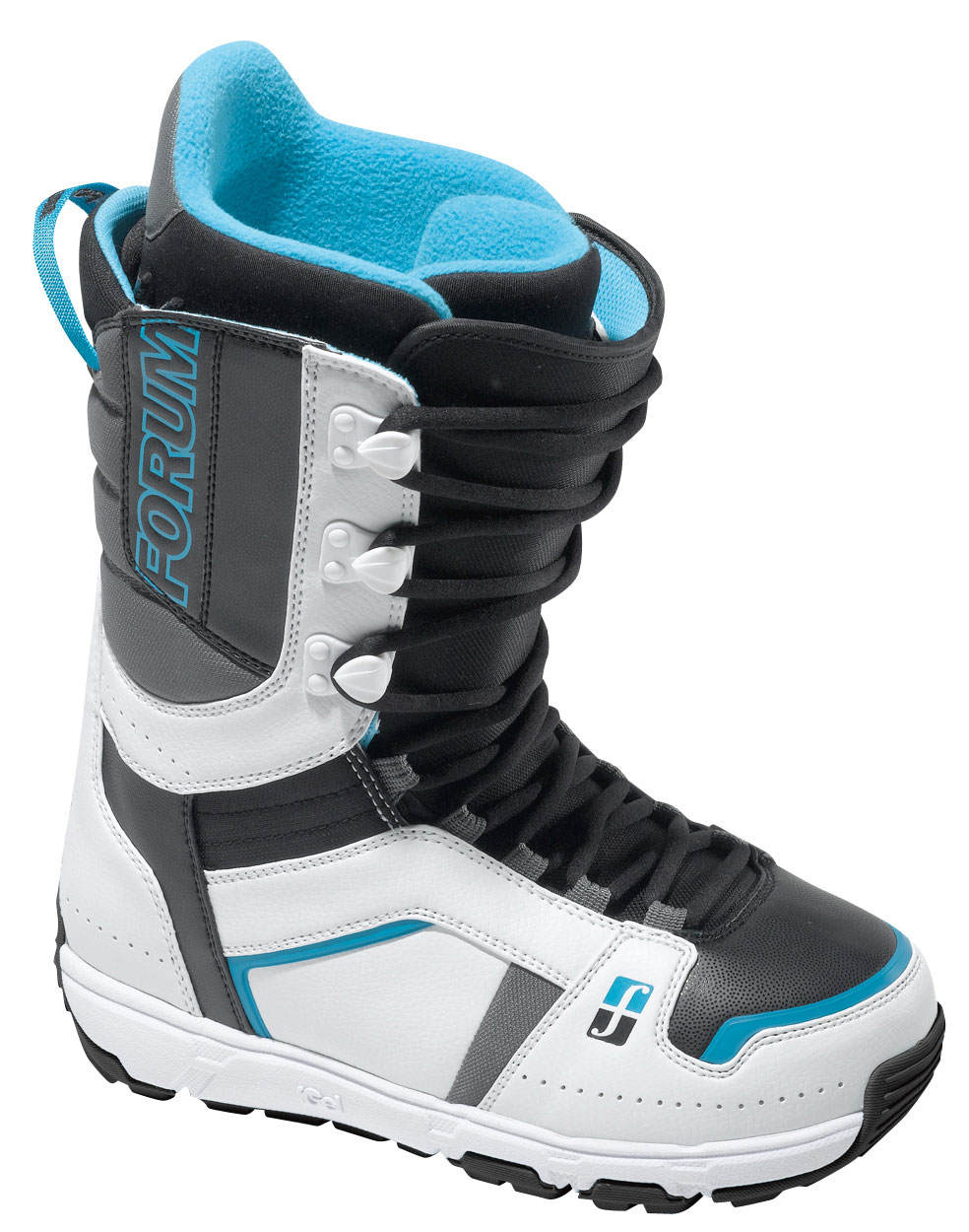 Snowboard A new classic. The Forum Booter Snowboard Boots combines a classic skate look with cutting-edge comfort and performance. Forever Fit construction never packs out, eliminating foot slop and increasing edge control. The Level 3 liner envelops your foot in plush comfort. The FGel in both the liner and the Good Vibes outsole, combined with the Footpillow, means you don't have to feel the classic heel bruise.Key Features of the Forum Booter Snowboard Boots: Flex: 5 Traditional lacing system: Tighten your boots as you like them with traditional shoe laces for a snug or loose fit. Up to you. Level 3 Liner with FGel: This comfortable and supportive liner gets the level 3 designation due to FGel in the heel. Add to this the Fleece lining and inSlick ease, and you'll be wearing these as your morning slippers. Good Vibes Outsole with FGel Cushioning: The Good Vibes outsole enables a more natural flex due to a multi-pod construction that lets feet feel the subtle sensations underfoot. Two pockets of encapsulated FGel deaden the bad vibes and ensure that only the Good Vibes get through. Footpillow: It's not a bed, it's a pillow. Get it? It's insanely comfy and squishy. The Footpillow features superior cushioning and dampening for heavy impacts while providing additional arch support, so you can ride hard all day Forever Fit Construction: Built from the inside out, Forever Fit construction ensures that your boot won't pack out. We started from scratch and re-engineered the entire boot to minimize materials and eliminate any potential slop. We took out so much unnecessary material that our 2011 boots measure one complete size smaller than year's past while retaining the perfect fit inside, from day one to day seventy-five Gold Cuff Links: Quick and easy internal lacing holds your foot deep in the ankle pocket for no lift and all-day comfort - $137.95