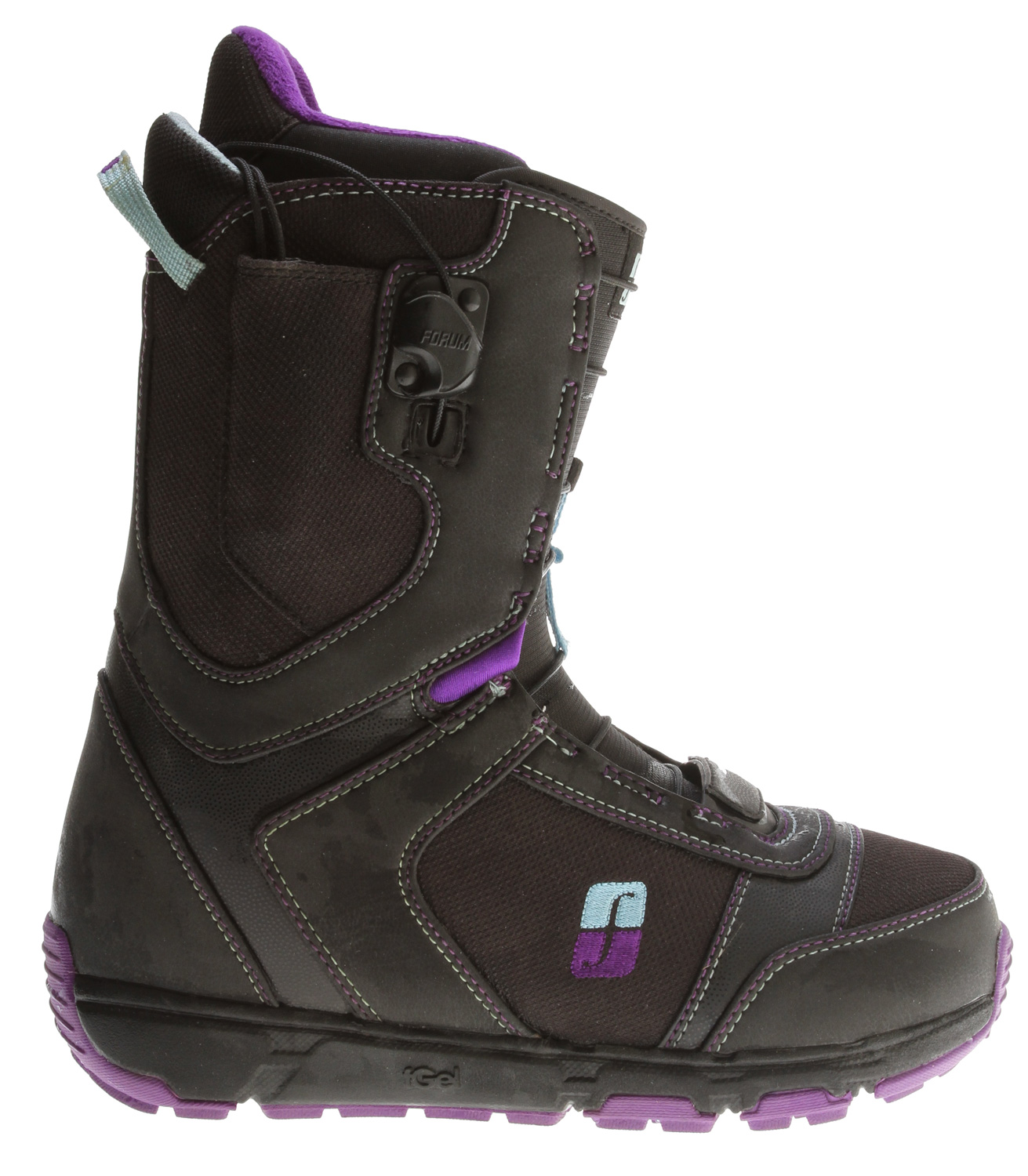 Snowboard Fits like a Glove. The Glove is an amazingly comfortable, high-performance women's boot. The Good Vibes outsole allows women rippers to get the subtle flex and feel of the terrain underfoot while still offering an insane amount of shock absorption, thanks to the encapsulated FGel pockets. The comfy Level 2 liner and footbed will wrap and support your foot the same from day one to day sixty-regardless of how hard you charge it.Key Features of the Forum Glove Snowboard Boots: Liner: Level 2 liner Comfort and Grip: Good Vibes outsole with FGel cushioning Footbed: Level 2 footbed Lacing: Speed Zone New Forever Fit construction Gold Cuff Links Flex: 4 - $129.95
