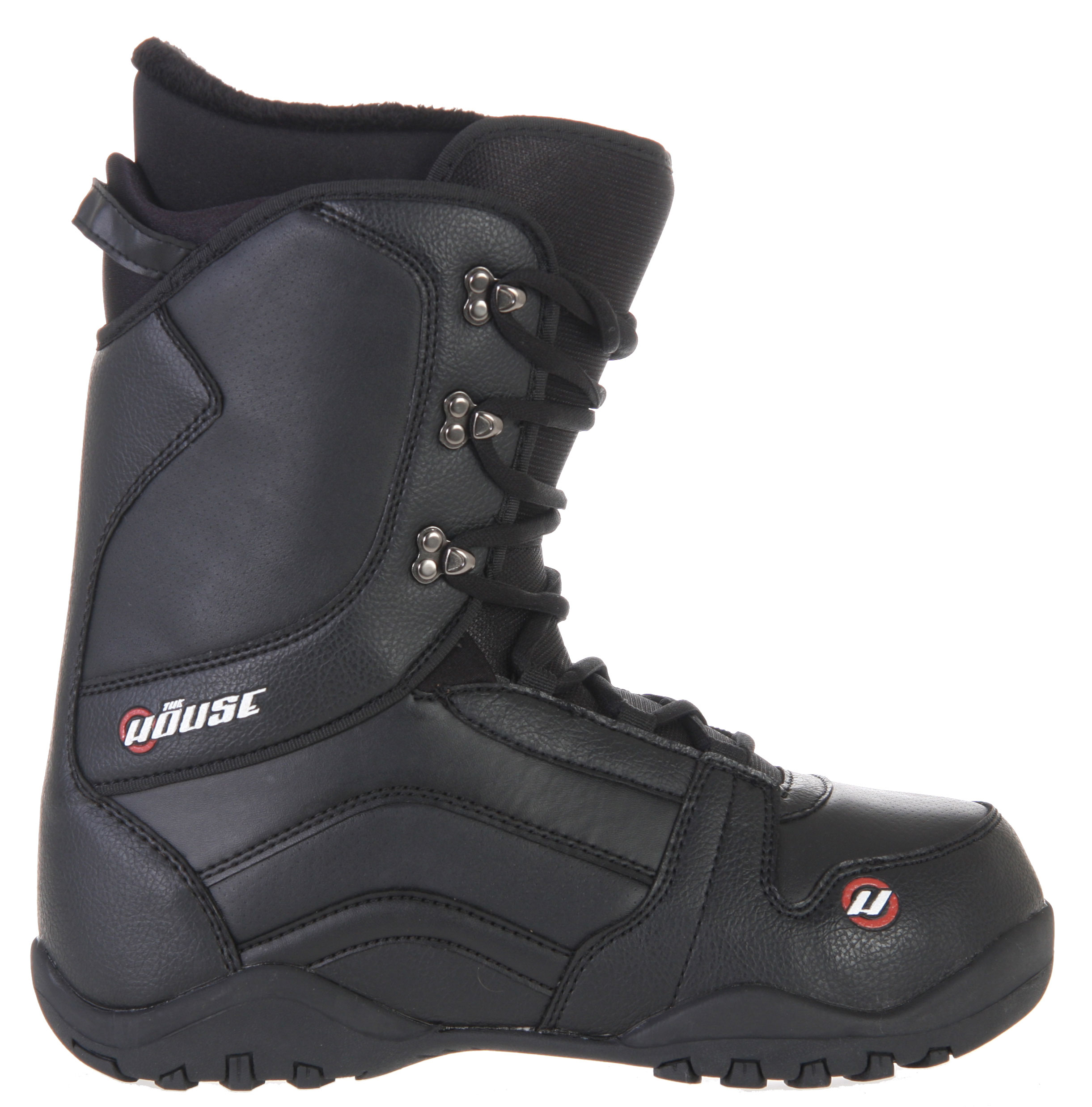 Snowboard The House Transition Snowboard BootsKey Features of the House Transition Snowboard Boots: Deluxe lace up liner Speed lace system Molded TPR backstay Phylon and rubber 2 piece sole - $71.95