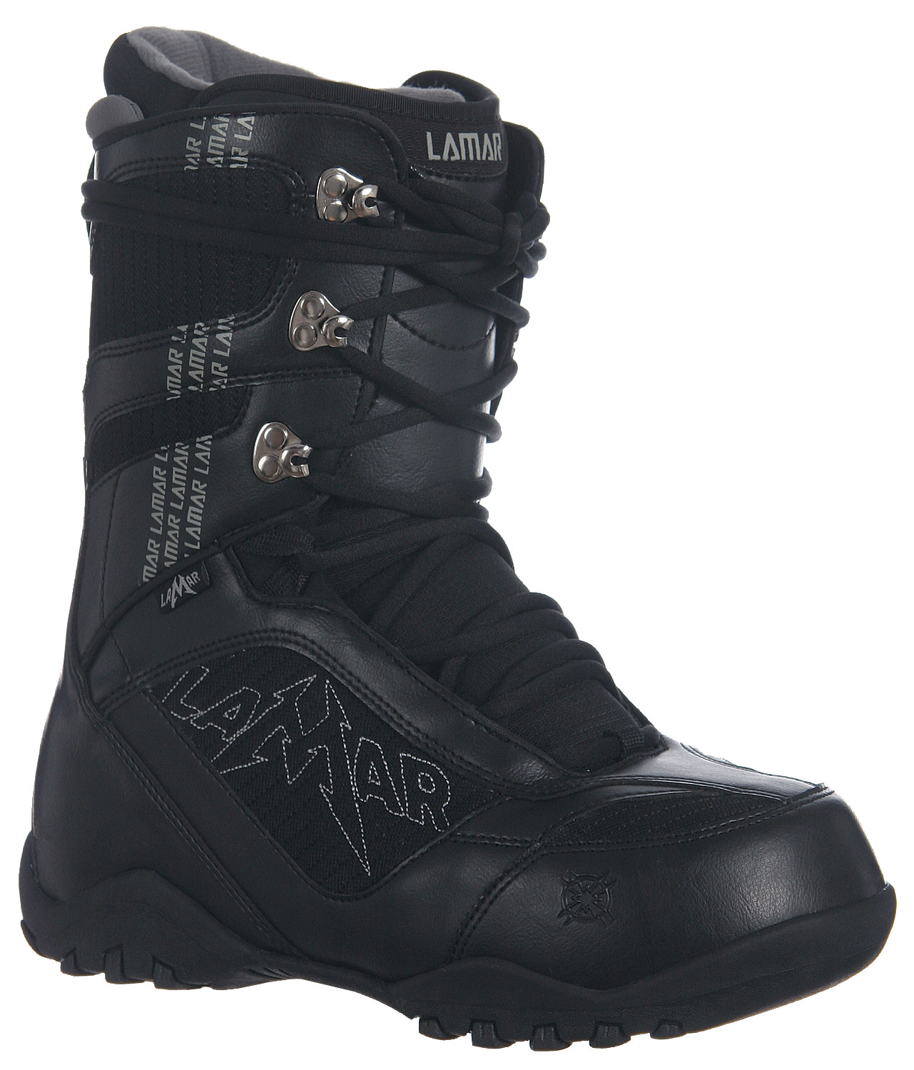 Snowboard Your feet deserve the best when snowboarding, so why not buy them the best? Lamar Justice Snowboard Boots are the best choice for comfort and style when you tear down the slopes. They feature upgraded materials such as the flex zone tongue, which helps the boots be put on easier and the soft touch lacing so the boots are not a pain to tie. The Lamar Justice Snowboard Boots also have a low profile dual density outsole to protect your feet from injury in case you have a fall.Key Features of The Lamar Justice Snowboard Boots: PL Articulated Lace Up Liner with EVA Footbed Low Profile Dual Density Outsole Soft Touch Lacing Tongue Gussets with Micro Injected Pull Tab Flex Zone Tongue Upgraded Materials - $59.95