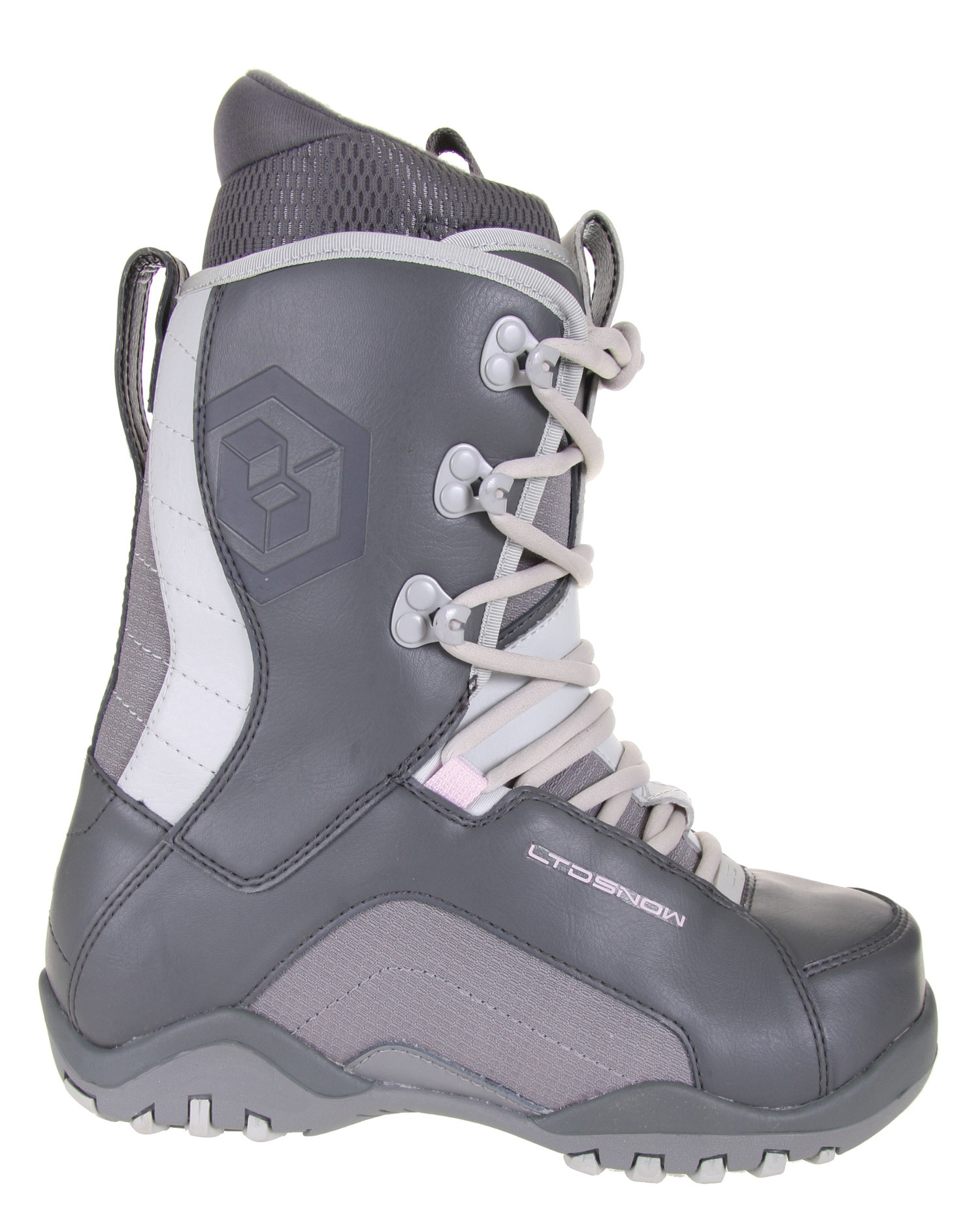 Snowboard Ride all day without sore, achy feet in the LTD Stratus snowboard boots. The lace up articulated liner has an EVA footbed that provides comfort and durability. The dual density outsole is low profile so it's lightweight yet supportive. The flex zone tongue is supple in critical areas, so the rider is supported without feeling hampered or stiff. Soft touch laces cinch up tight for a snug fit without digging in. Feel great in the LTD Stratus snowboard boots.Key Features of The LTD Stratus Women's Snowboard Boots: PL Articulated Lace Up Liner with EVA Footbed Low Profile Dual Density Outsole Tongue Gusset with Micro Injected Pull Tab Flex Zone Tongue Upgraded Materials Soft Touch Laces - $47.95