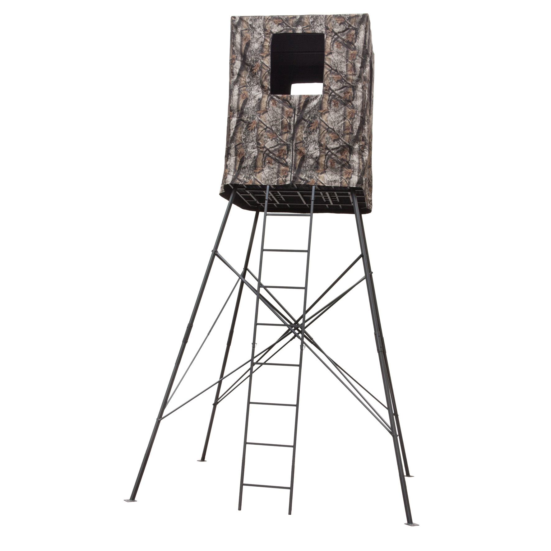 Big Dog 14 Guard Tower 2 Person Quad Pod Deer Stand With
