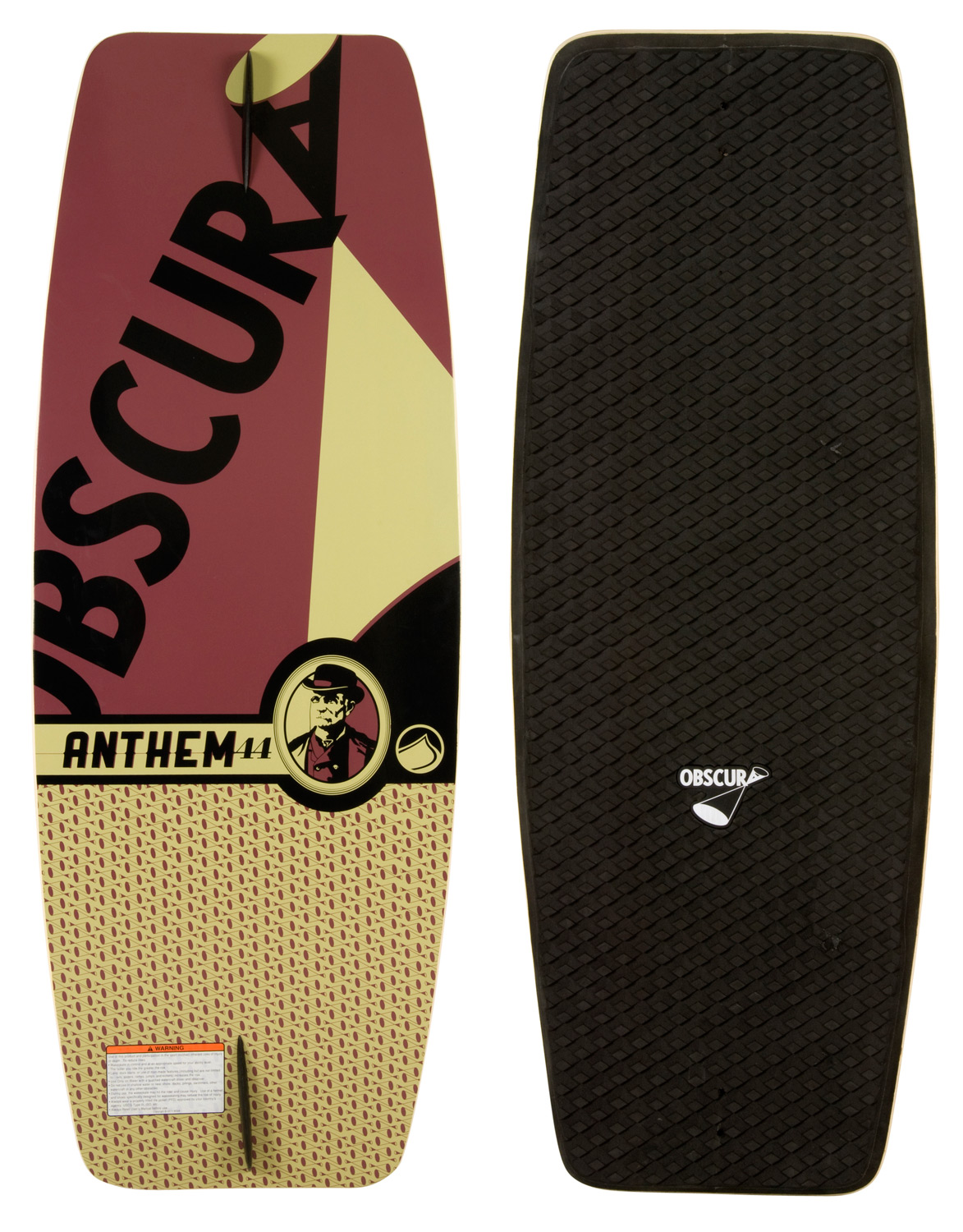 Skateboard The Anthem continues to be a unique stand out in our line, as the EVA molded concave traction pad gives it a progressive feel without the progressive price. The three stage rocker and concave deck will help any rider skate like never before. Slim and lightweight, this board is a comfortable and consistent daily performer for those looking to get more serious about wake skating.Key Features of the Liquid Force Anthem Wakeskate: New Board Outline: For 2013 we updated the outline of the board, to have more midsection and continuous outline shape, for a better edge hold and more consistent feel under your feet. New EVA Deck: Deck comes with applied die cut machined EVA grip that has been redesigned for this year. The grip offers much improved traction and Obscura logo branding. Progressive 3 Stage Rocker: A mixture of aggressive 3 stage and continuous rocker, this rocker profile allows the board to stay under your feet as you edge or leave the wake. Single concave: The progressive 3 stage rocker is complimented with a single concave throughout the board that helps the board track even truer, with a fin or without, when you are on edge. Wood Construction: Decks that are pressed one at a time and individually CNC cut to a shape that will allow any rider, at any level to ride. Once the board is machined it goes thru a varnishing process twice to ensure a quality seal. Constant Rail Edge: The rail of the board is soft throughout. This allows the board to have a forgiving feel. Skate Fin: Comes standard with two 1.0 skate fins - $97.95