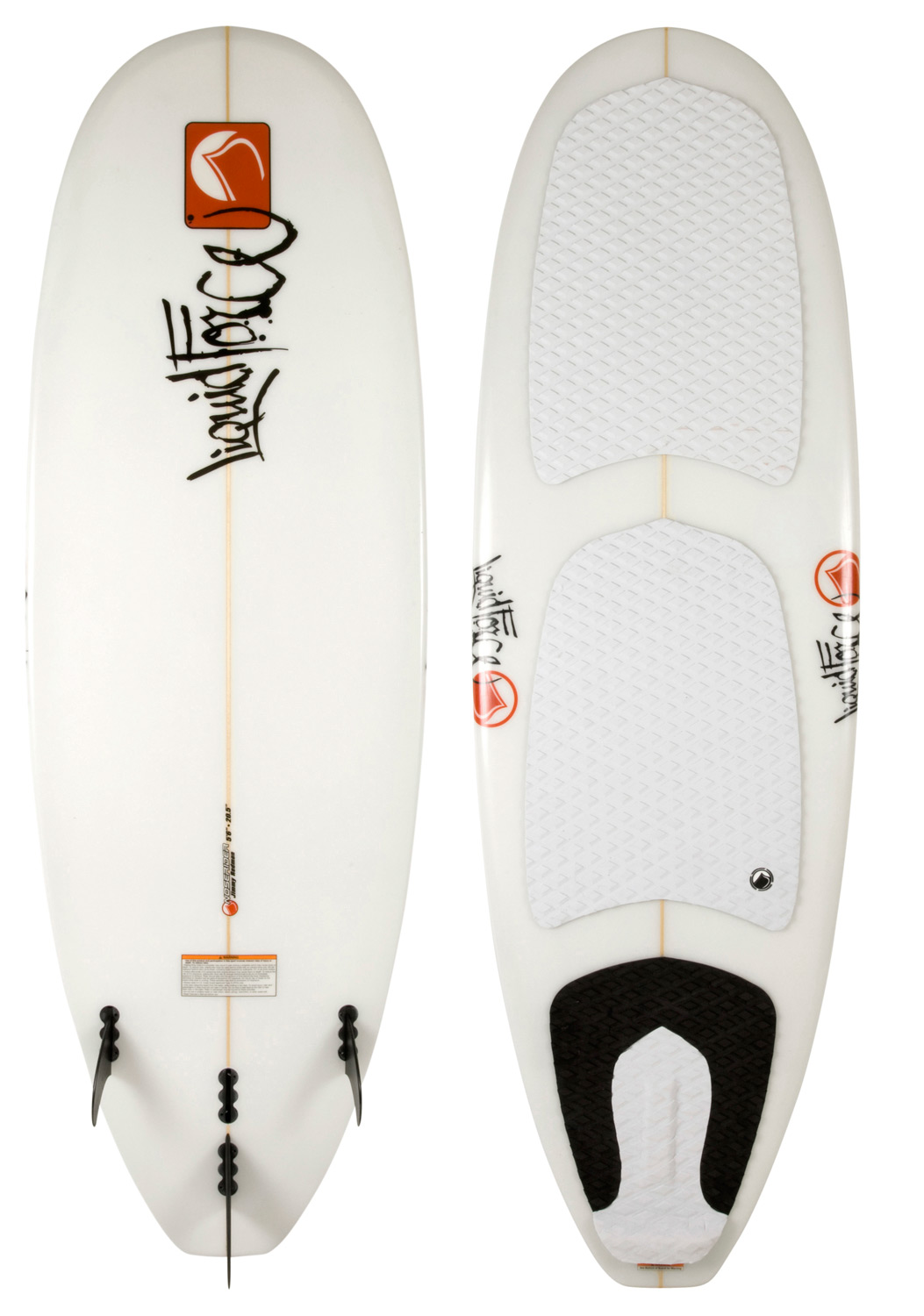 Skateboard Featuring a true longboard shape & style, the Nose-rider is ultra smooth... Whether you enjoy cruising, hanging ten or getting a bit more aggressive with your turns, this board will not disappoint. Great for the first timer looking to let go of the rope!Key Features of the Liquid Force Noserider Wakesurfer: Light Weight Hand Shaped Core: Faithfully re-creating Jimmy's original master...Light and just right. Full Nose Outline with Concave: Nose ride with control, lift and glide! Double Concave Hull: The concave provides lift and acceleration that keeps you in the wake. 2+1 Fin Removable Set-Up: Move the center fin up or back for the turning radius you want. Outside side fins can be removed for added speed and looseness. Full Deck EVA Grooved Traction Pads: From nose to tail, you have sure footed control and grip - $499.99