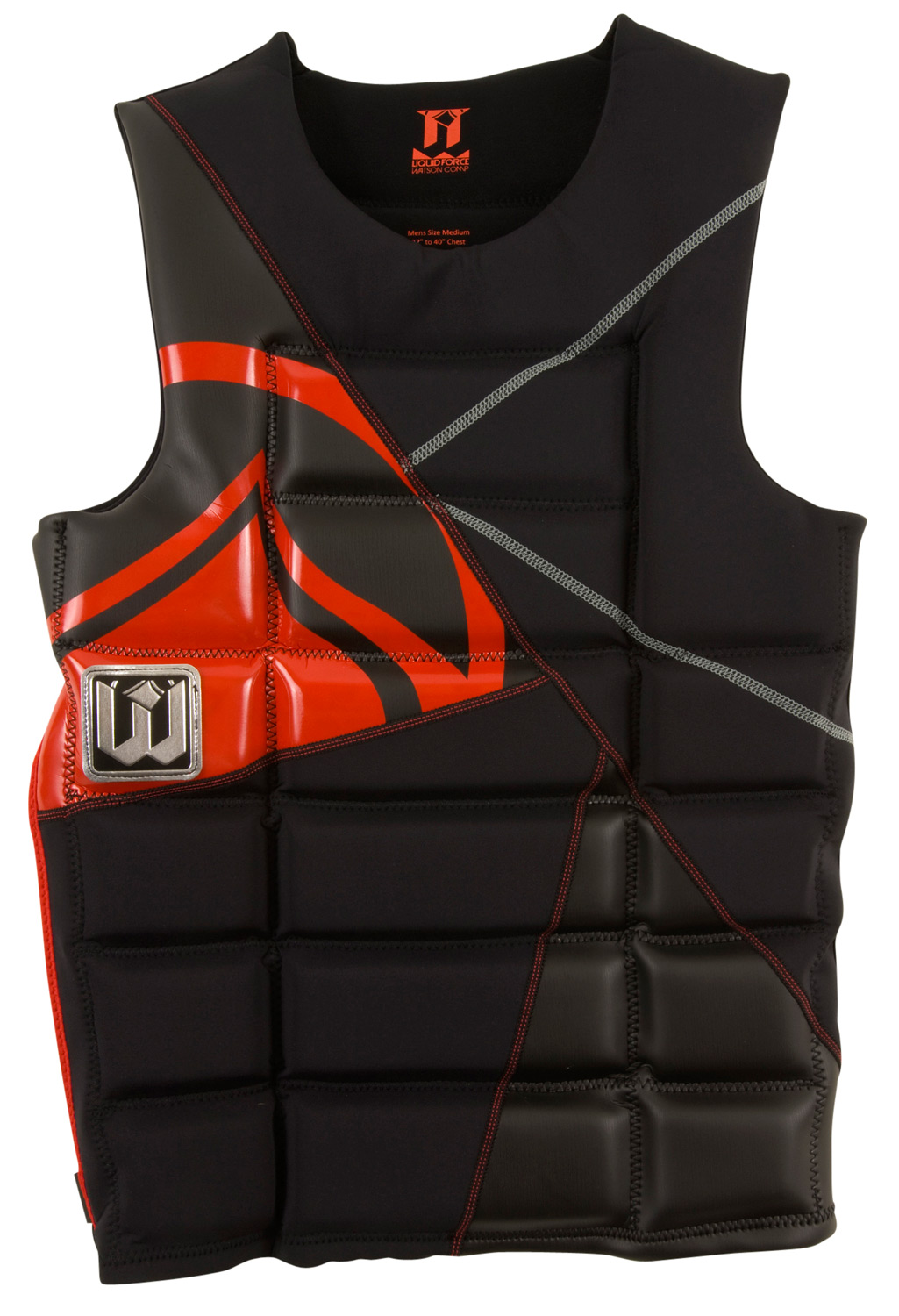 Wake When Watson brainstormed this vest with our design crew, he wanted a super thin vest with maximum comfort and range of motion. The result is his new comp vest that is a Hybrid of sorts. Similar to a pullover it comes without straps and buckles. The hybrid addition, however, is a small half zip down the back and drawstring on the front. The Watson Comp is the ultimate combination of lightweight comfort, performance flex, and ease of entry that will keep you enjoying the wake all summer long!* Pullover System: Increased forward flex and comfort... no buckles to get in the way * Side Half-Zip: Half zipper on down the back makes it easier to get into and out of * Quilted Foam Panels: Designed to fit you perfectly * Super-Stretch Neoprene Flex panels allow vest to move in sync with your movements * Strapless design: Clean and simple with nothing to get in your way on handle passes. * Non CGA Approved - $51.95