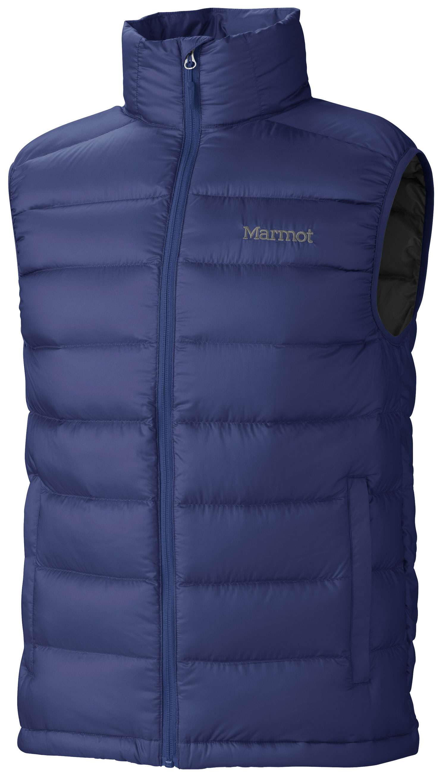 Guns and Military When the thermometer plunges, reach for this ultra light vest, packed with high-quality 800 fill power goose down. It's a great way to stock up on warmth without bulking up your pack, since it fits into its very own pocket! Features include an elastic draw cord hem and cozy hand warmer pockets.Key Features of the Marmot Zeus Vest: Ultralight Down-proof Fabric 800 Fill Power Goose Down Zippered Hand Pockets Elastic Draw Cord Hem Packs into Pocket - $150.00