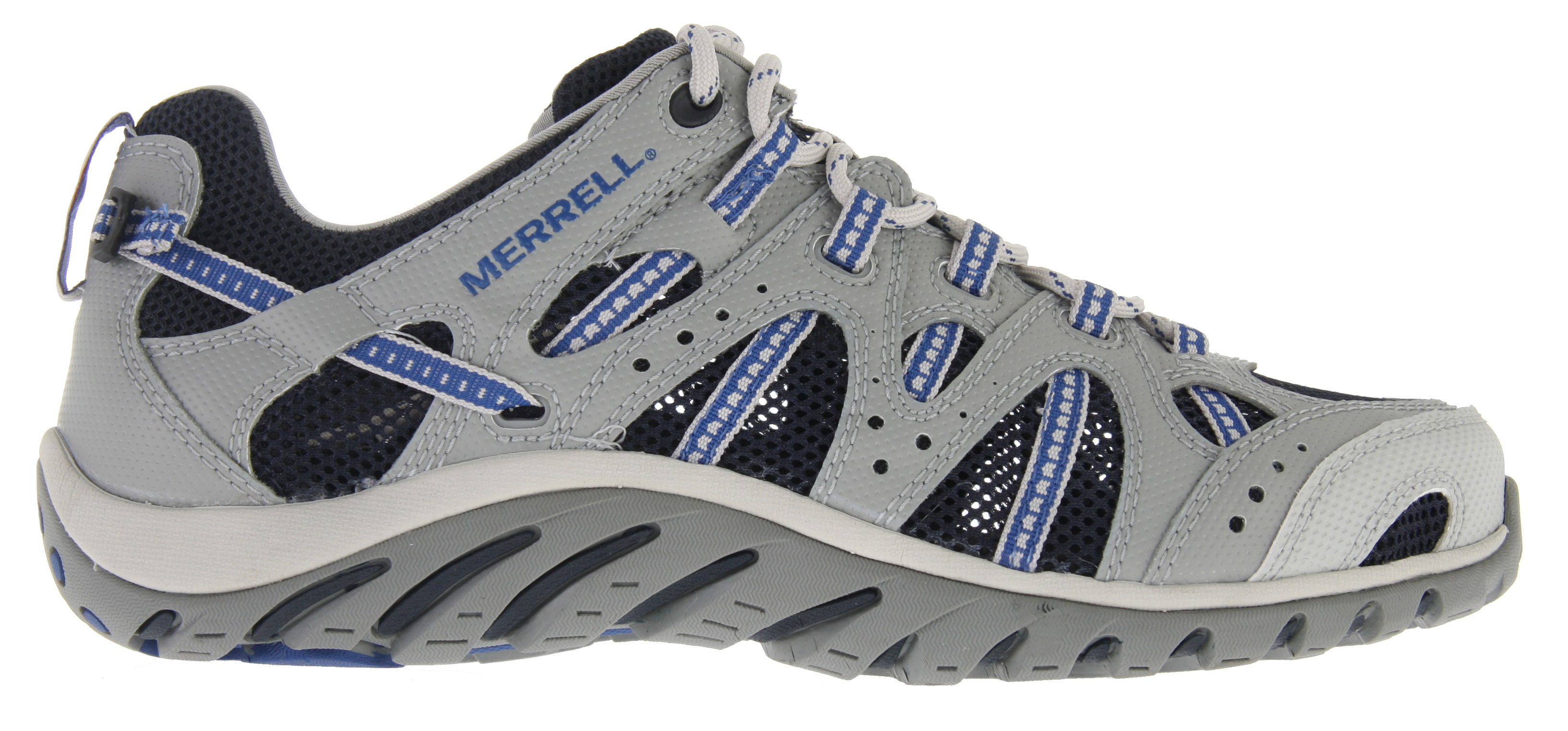 Skateboard Immerse yourself in your favorite element - the Merrell Waterpro Manistee Water Shoe holds on tight and goes with the flow. Merrell omni-Fit lacing secures a glove-like fit. Hydro-savvy perforated footbed, antimicrobial lining and drainage ports keep you comfortable soaking up the fun.Key Features of the Merrell Waterpro Manistee Water Shoes: Strobel construction offer flexibility and comfort 2mm EVA insole for comfort and shock absorption Synthetic leather and mesh upper Merrell omni-Fit (TM) lacing system provides a precise, glove-like fit Synthetic leather toe bumper protection Perforated EVA footbed treated with Aegis (R) antimicrobial solution Molded nylon arch shank Compression molded EVA footframe provides cushioning Merrell air cushion in the heel absorbs shock and adds stability Lug Depth: 3mm Water friendly non marking sipped sole Merrell Waterpro Light Sole/ tC5+ rubber Vegan friendly footwear - $89.95