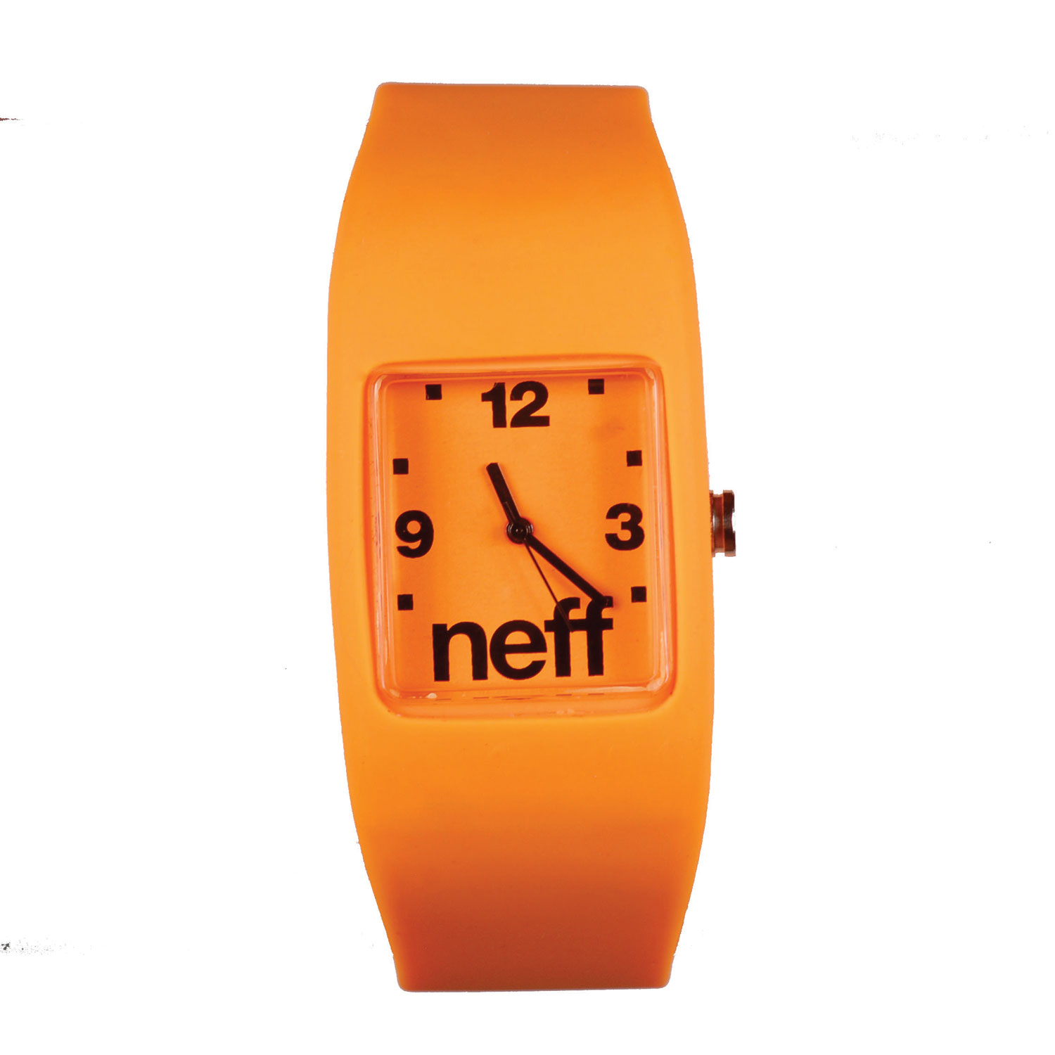 Skateboard The Neff Bandit watch stretches to fit your wrist so you don't have to worry about it coming undone while shredding the hills. It also has an interchangeable face! Feel free to mix and match the Neff Bandit wristband watch with other Bandit watches for a customized look. Key Features of the Neff Bandit Watch: 2cm x 2.5cm display. Interchangeable face. Case made from protective ABS material. Silicon stretch band. Neff logo on display, crown and band. Stainless steel back. 5 ATM water resistant. Imported. - $24.95