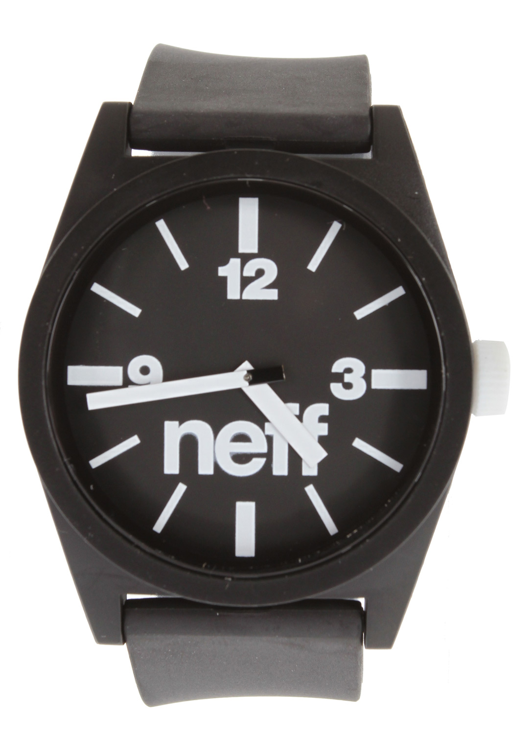 Snowboard The Neff Daily Watch has a clean and simple style you will never tire of. A large face with bold numbers is easy to read under the influence. The polyurethane band keeps things lightweight and the stainless steel back stands up against harsh impacts.Key Features of the Neff Daily Watch: XL display Smooth polyurethane strap 4cm diameter case Case made from protective ABS material Polyurethane adjustable strap One size fits all ABS stainless steel reinforced back 5 ATM water resistant - $30.00