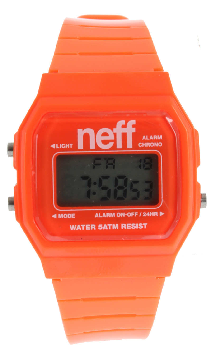 Skateboard Like a boss! High fives never looked so good!Key Features of the Neff Flava Watch: ABS case PU strap. Alarm Military Time Backlight Date Water resistant up to five meters Weight: 1 oz - $19.95