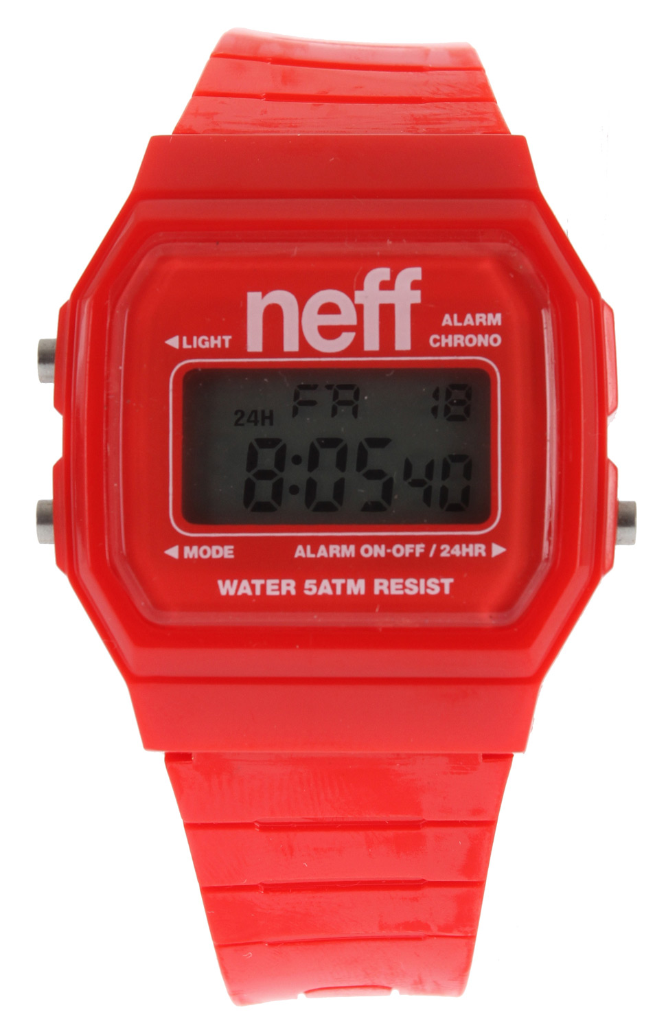 Skateboard Like a boss! High fives never looked so good!Key Features of the Neff Flava Watch: ABS case PU strap. Alarm Military Time Backlight Date Water resistant up to five meters Weight: 1 oz - $13.95