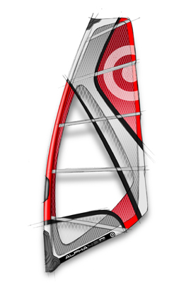 "Wake Consistent power, and consistent control. With a design emphasis on manageable power and upwind ability, the Alpha is the sail in the NeilPyrde wave collection that is best suited to onshore, or sometimes less than ideal, wave sailing conditions. Regardless of your size, Alpha is the sail that delivers the power you need to get out of the disturbed air in the impact zone and into a good position. ""out the back""- and take best advantage of the conditions.Key Features of the Neil Pryde Alpha 4.0m Windsurfing Sail: The ALPHA has the most shaping and the least rotated profile of all NeilPryde wave sails, this generates the most power of any wave sail in the range delivering power in onshore conditions. A mid-size head means the ALPHA can be designed with relatively high surface tension. This enhances upwind ability - without giving the sail a ""top heavy"" feeling. The ALPHA is a low-aspect sail compared to the Combat and Zone which brings the power closer to the rider. This improves upwind performance, generates lift and delivers more constant power. A wider luff-sleeve allows the sail to ""neutralise"" easily and be less ""direct"" in gusty conditions. For 2008, sizes 4.5m to 5.4m all rig on a 400cm mast. Alpha 4.0m - Luff 381cm Boom 157cm - $349.95"