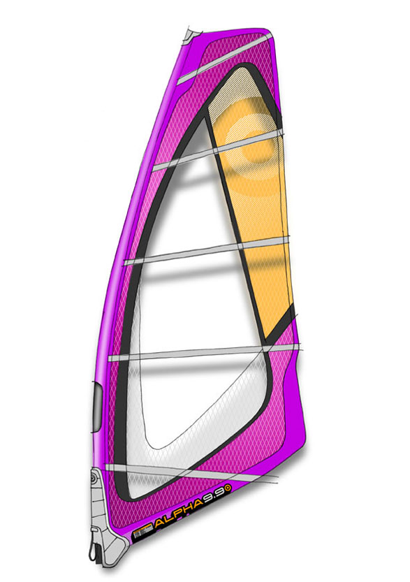 Surf Key Features of The NeilPryde Alpha Windsurfing Sail 4.5m: More responsiveness and better upwind ability through a mid-sized sail head and corresponding high surface tension The wider luff sleeve deflects the effects of gusty conditions by acting like a giant mast length shock absorber The most pronounced luff curve in the wave sail range providing power release, constant drive and early planning Load-specific reinforcement puts critical strength where it's needed most, without waste or excess weight Lower clew position gives better lower leech twist for more sail control on the wave Widescreen visibility thanks to large monofilm window Full Throttle: The deepest, least rotating profile in the quiver puts more power on the floor Increased sail stability through a central draft location puts more power at your direct control Luff: 393cm, Boom: 161cm - $439.95
