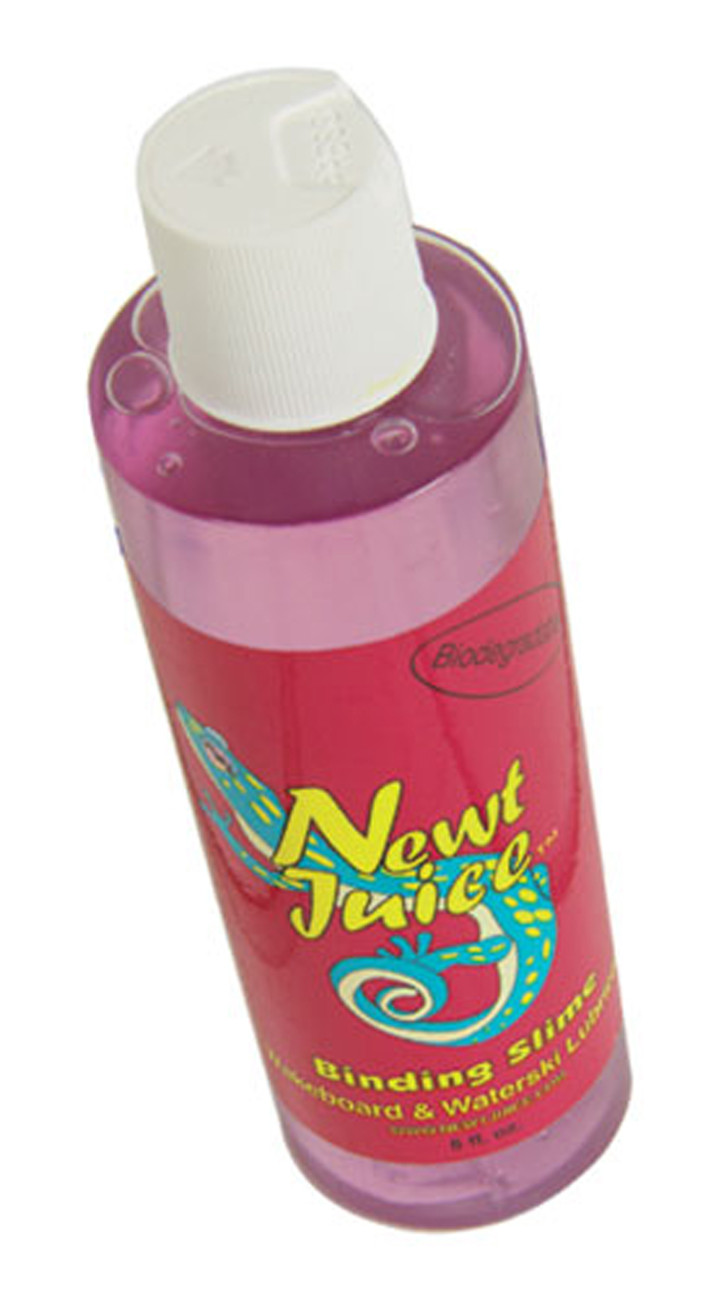 Wake Newt Juice wakeboard binding lubes in an original. The lubricating properties of Newt Juice are unsurpassed. A few squirts or sprays and a skier's feet will slide easily into the binding. 8 oz. Newt Juice helps your slide nicely into your bindings and dissolves quickly in the water. 8 oz. - $4.95