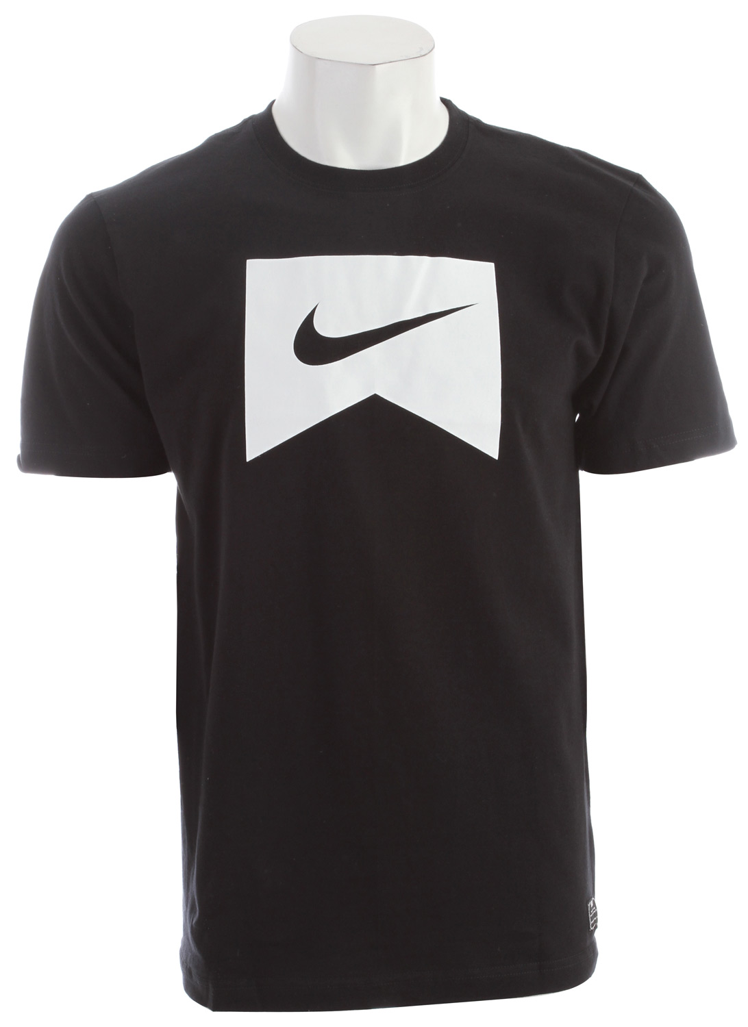Skateboard Key Features of the Nike Icon T-Shirt: Body: 175g. 100% cotton (10% organic) plain jersey. Rib: 250g. 100% cotton (10% organic). All-purpose cotton tee. Graphic executed with a soft hand screen print. - $21.00
