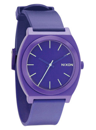 Key Features of the Nixon Time Teller P Watch: MOVEMENT: Custom 3 hand Japanese quartz CASE: Custom 100 meter molded poly- carbonate with hardened mineral crystal and triple gasket crown BAND: Custom molded polyurethane with patented locking looper and polycarbonate buckle - $75.00