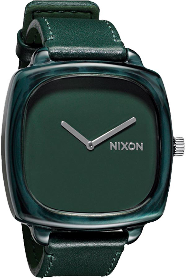 The Nixon Shutter watch is a solid accent to your outfit. With this watch, you can show up fashionably late and still be considered on time.Key Features of the Nixon Shutter Watch: MOVEMENT: 2 hand Japanese quartz. CASE: Custom 30 meter acetate body with stainless steel skeleton and hardened domed mineral crystal. 50 x 43.75mm. BAND: Imported full grain leather with acetate buckle. 20mm wide. - $46.95