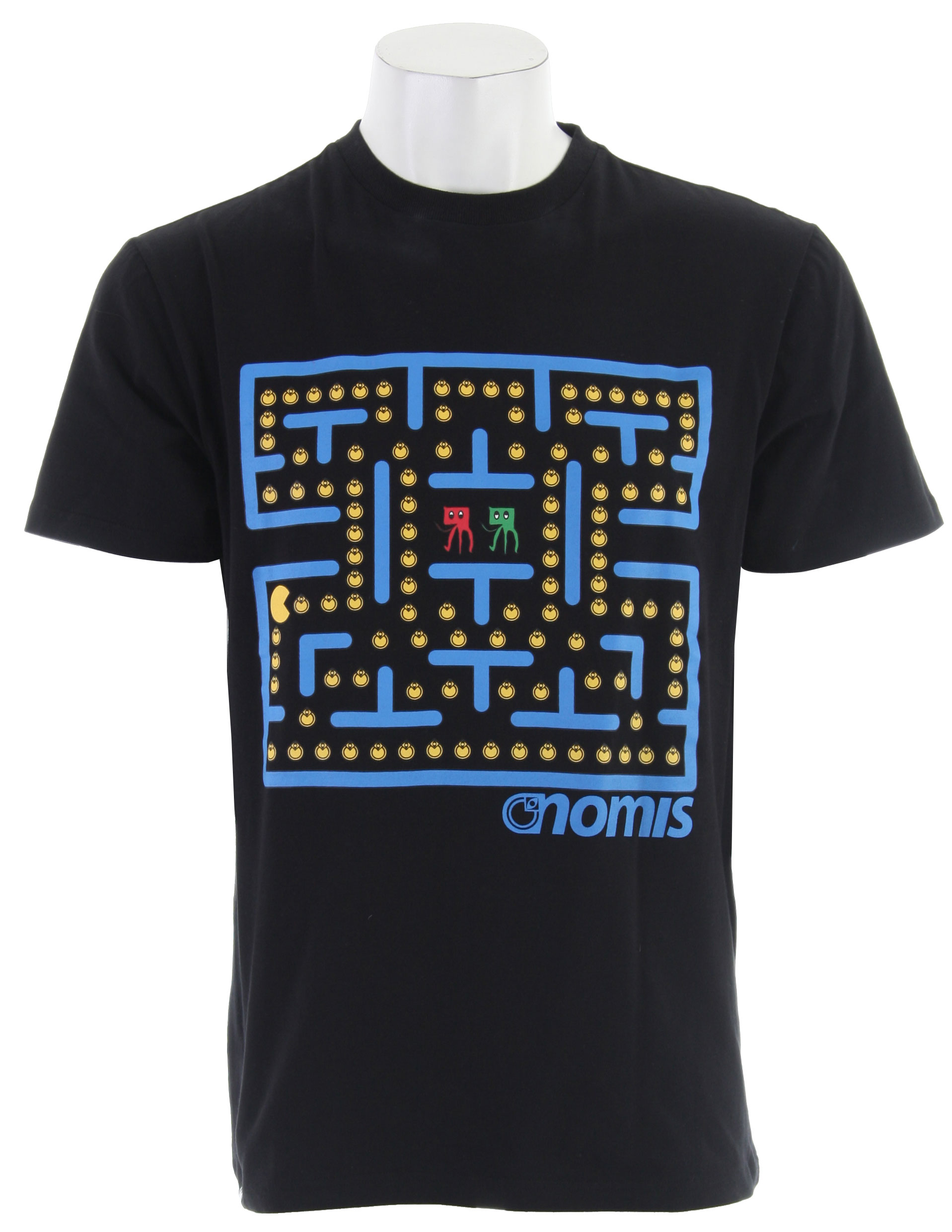 Design contest winner! Thanks for the idea, looks super tight. The Nomis Pacman T-Shirt is 95% Cotton 5% Spandex. - $22.95