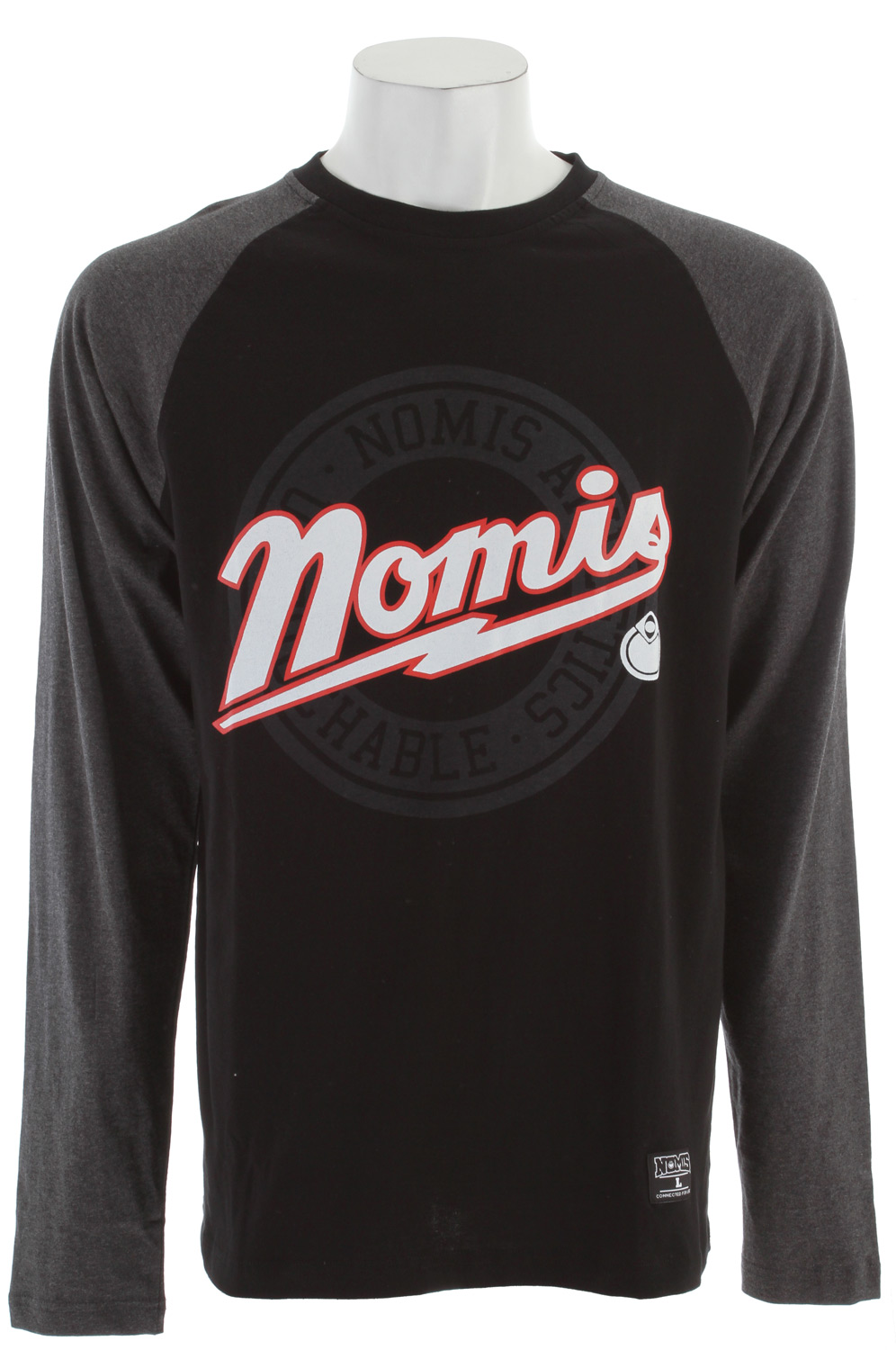 Sports Key Features of The Nomis Baseball L/S T-Shirt: Regular Fit Crew Neck Long Sleeve 95% Cotton 5% Spandex Tall sizing - $34.95