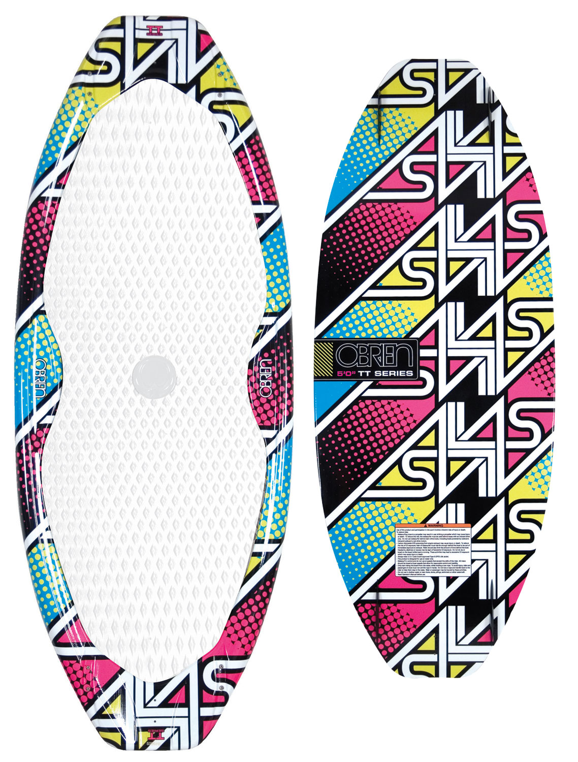Surf Blending the line between surfing and skating. O'Brien's Alias TT surfer is a true symmetrical twin tip board. Designed to be ridden centered on the board, the deck is fully dished out to give the board the feel and control of a concave skate. A squash tip and tail give the board push and let you pump from way back on the wake. Ride switch, slide the lip, and spin 3s like never before. Quad side fins give just the right edge bite for most riders, but advanced riders can choose to run a single center fin or no fins at all. Shaped by Russ Wilde and Chris Johnson. - $233.95