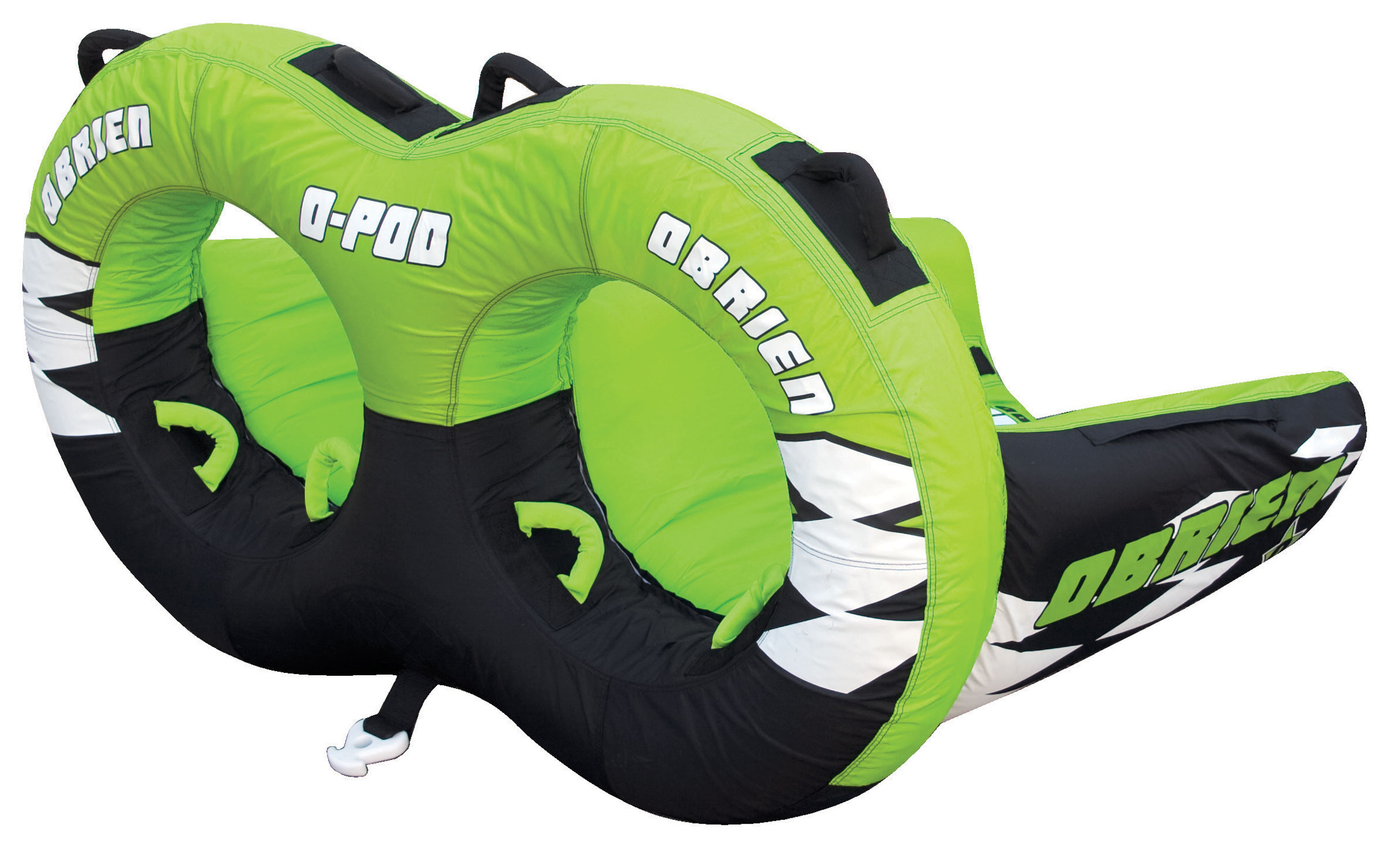 "Looking for the ultimate in tubing excitement this summer? This hefty O'Brien O-Pod towable tube measures in at over five and a half feet, providing ample space for up to two adult riders. It comes with the industry-standard Boston valve, for easy inflation and compatibility with many types of pumps. Don't worry about losing or wrecking it either; the tube comes in eye-catching neon colors for easy visibility in water and carries a 1-year limited warranty.Key Features of the O'Brien O-Pod Inflatable Tube: 51"" X 67"" 2 Riders 1 Boston Valve One Year Limited Warranty - $178.95"