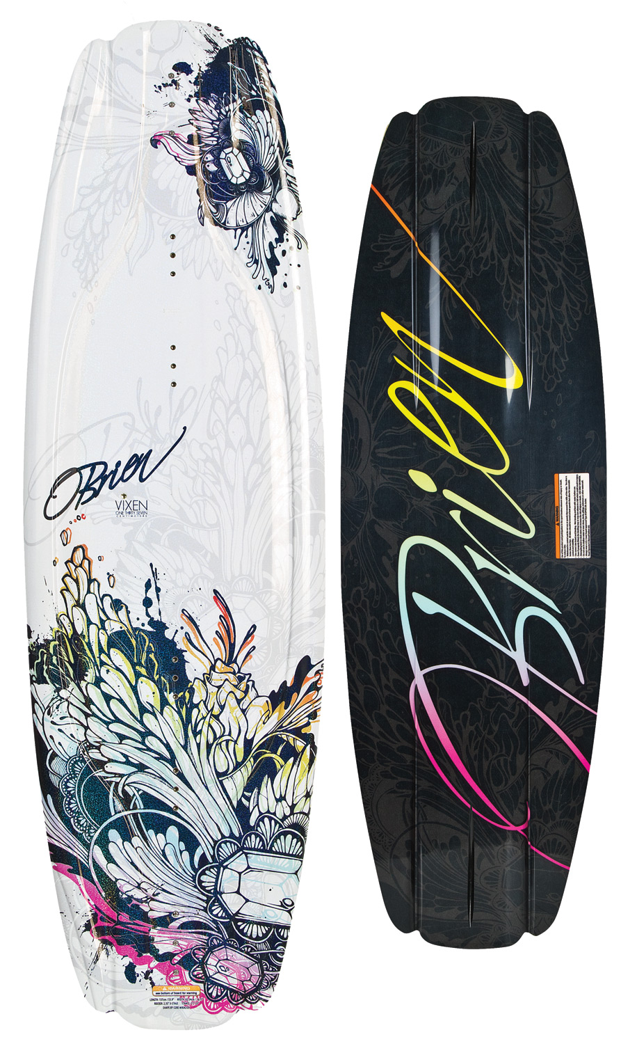 Wake The Vixen has all the features of our Clutch wakeboard, tuned for the ladies. Extended refined molded-in fins give the smoothest control, pop comes easy with the 3-stage rocker. Wakeboard Binding CompatabilityCan accomodate bindings with a 6 inch binding plate found here. Can only accommodate a single mounting position option for Liquid Force bindings with a 8 inch binding plate and offers two positions for all other vendors found here. - $148.95