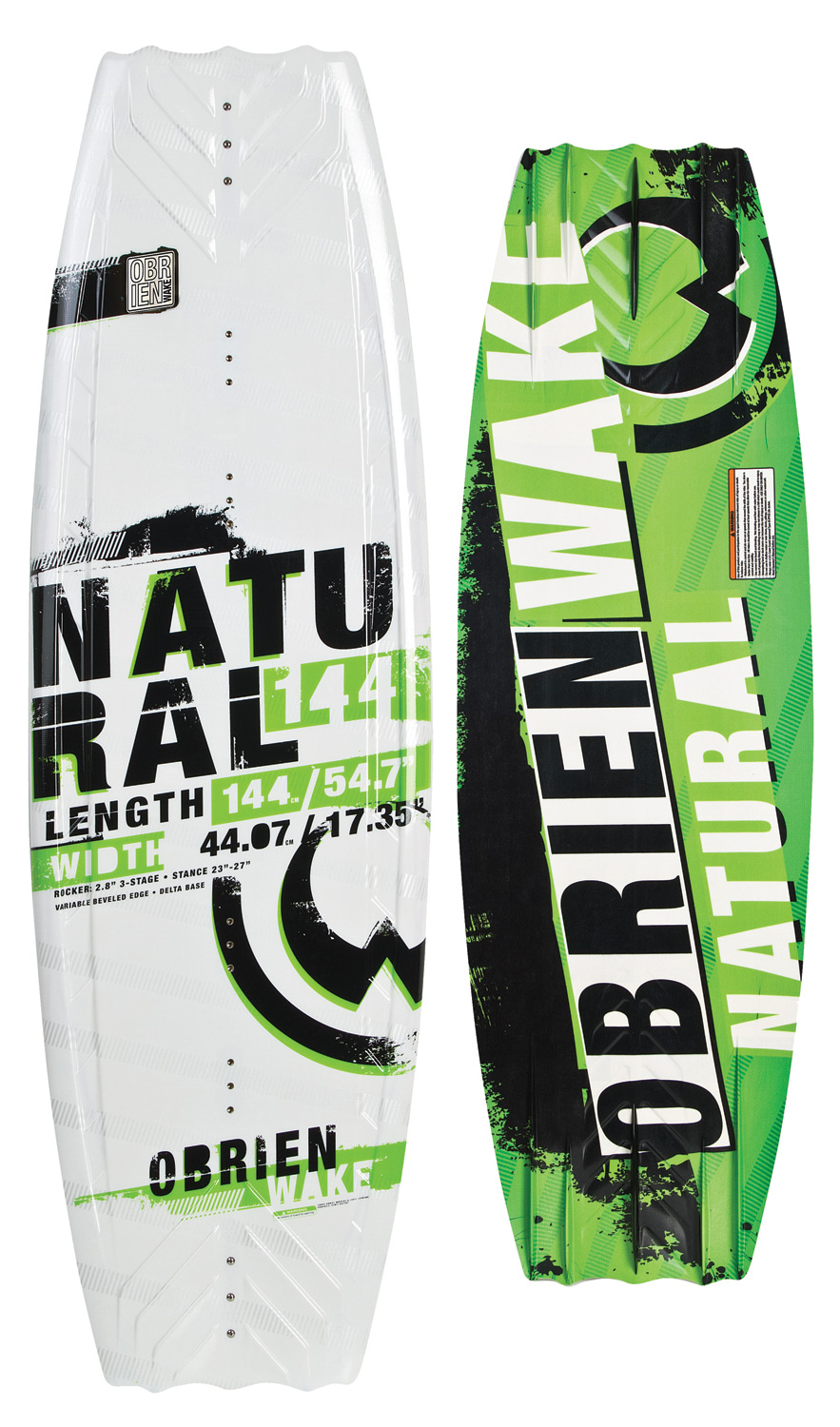 "Wake The board that started O'Brien's DELTA base revolution! The Natural's full profile and wide tips are ideally suited to the rider who prefers a slightly tail-heavy approach to the wake. The blended 3-stage rocker kicks the tail into the wake, generating more vertical pop. The variable beveled edge and quad molded fins provide secure edging, even when you are not using the optional center fin. One ride is all it takes.  Wakeboard Binding CompatibilityCan accommodate bindings with a 6in binding plate  a href=""http://search.the-house.com/ keywords=6inch_wakebind_plate_merch_grouping"" found here /a .  Can only accommodate a single mounting position option for Liquid Force bindings with a 8in binding plate and offers two positions for all other vendors  a href=""http://search.the-house.com/ keywords=8inch_wakebind_plate_merch_grouping"" found here /a . - $259.95"