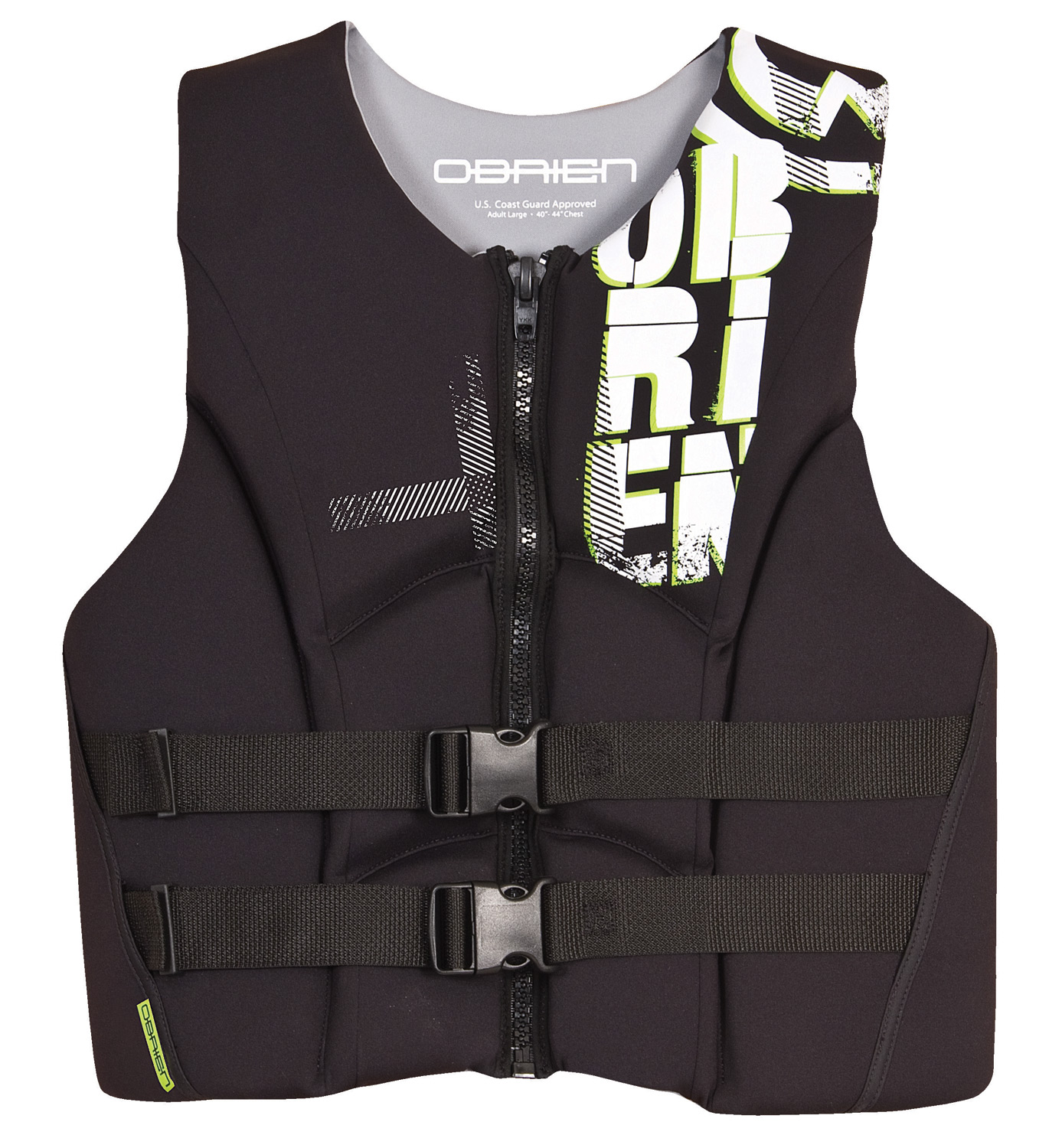 Wake Key Features of the O'Brien Flex Neoprene Wakeboard Vest: Neoprene outer for comfortable fit Zip closure and 2 belts for security Coast Guard approved - $69.95