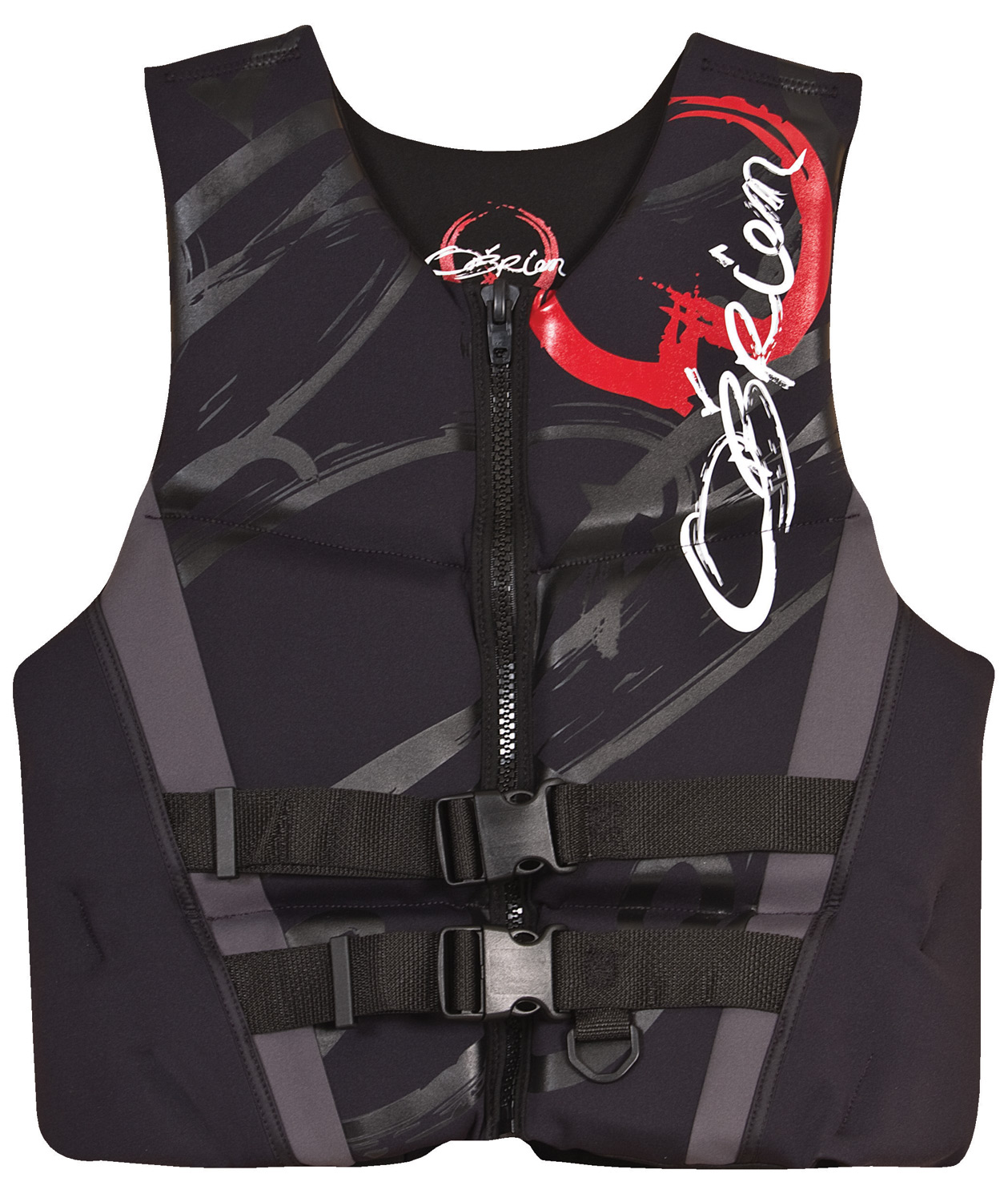 Wake Key Features of the O'Brien Flex V Back Wakeboard Vest: Quick Dry Technology Zip closure and 2 belts finish that custom fit Wide armholes designed for activity Coast Guard approved - $59.95