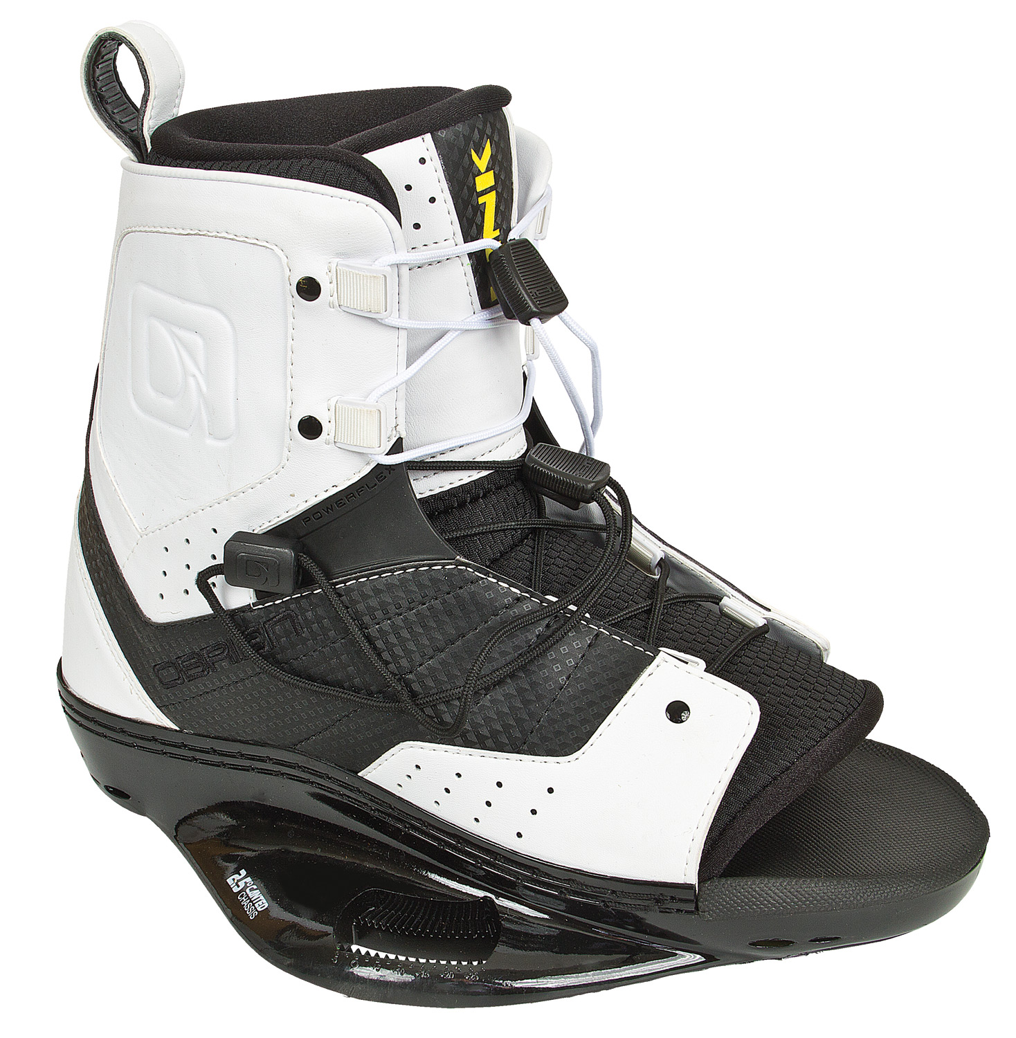 Wake Key Features of the O'Brien Link Wakeboard Bindings: Open Toe Design for more fit flexibility. New for 2012 Lux Chassis - our lightest & most rigid chassis ever, maximum comfort, response, and no heel / toe lift. Strobel Lasted Liner. Fixed Off-Axis plate. CMEVA Outsole. - $119.95