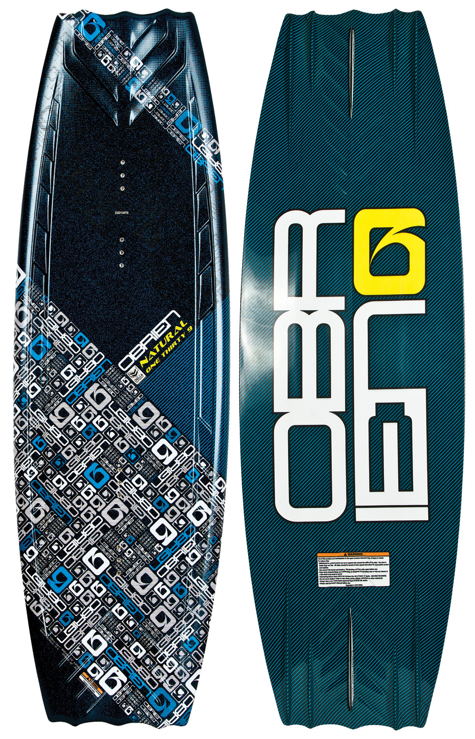 Wake The board that started O'Brien's Delta base revolution, the O'Brien Natural Wakeboard! The Natural's full profile and wide tips are ideally suited to the rider who prefers a slightly tail-heavy approach to the wake. The blended 3-stage rocker construction kicks the tail into the wake, generating greater vertical pop. The variable beveled edge and quad molded fins provide secure edging, even when you're not using the optional center fin. This board is the perfect blend of durability and high performance. The O'Brien Natural Wakeboard, one ride is all it takes!  DELTA base   Full profile and wide tips   3-stage rocker   Variable beveled edge and quad molded fins   This board has some minor cosmetic defects-nothing that affects the performance   Wakeboard Binding Compatibility   Can accommodate bindings with a 6 inch binding plate   Can only accommodate a single mounting position option for Liquid Force bindings with a 8 inch binding plate and offers two positions for all other vendors - $104.95