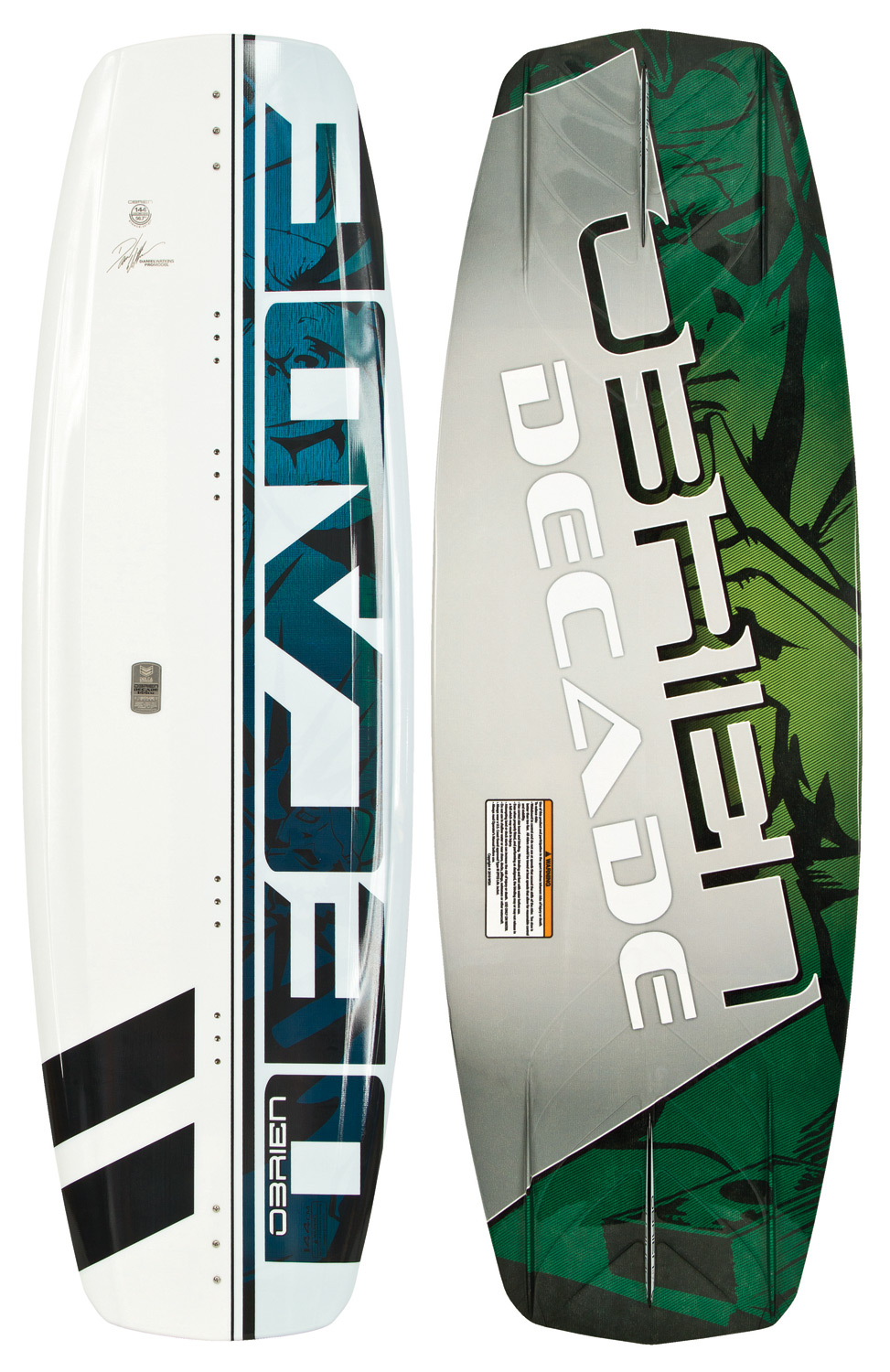 "Wake The O'Brien Decade Impact Wakeboard is quickly becoming the board of choice for both freeride and competition riders! The Decade pushes the envelope of thought and progression in wakeboard design. The variable edge profile is fat through the center 14"" of the board, and quickly tapers to a more refined edge from the boot position to the tips. This gives the board a unique float feel when centered, transferring to a deep-set edge when carving. The expanded Delta base keeps the water cleanly breaking off the tail of the board, decreasing rocker-induced drag and providing optimum release off the wake. The molded fins are as thin as possible for minimal resistance and optimum control, and have been combined with a 3-stage rocker for just the right amount of kick. The Clean V bottom through the center of the board makes sure your landings are buttery soft.* This board has some minor cosmetic defects-nothing that affects the performance * Variable edge profile * Expanded DELTA base * Rocker-induced drag * Molded fins * 3-stage rocker * Clean V bottom * Impact base * Wakeboard Binding Compatibility * Can accommodate bindings with a 6in binding plate * Can only accommodate a single mounting position option for Liquid Force bindings with a 8in binding plate and offers two positions for all other vendors - $147.95"