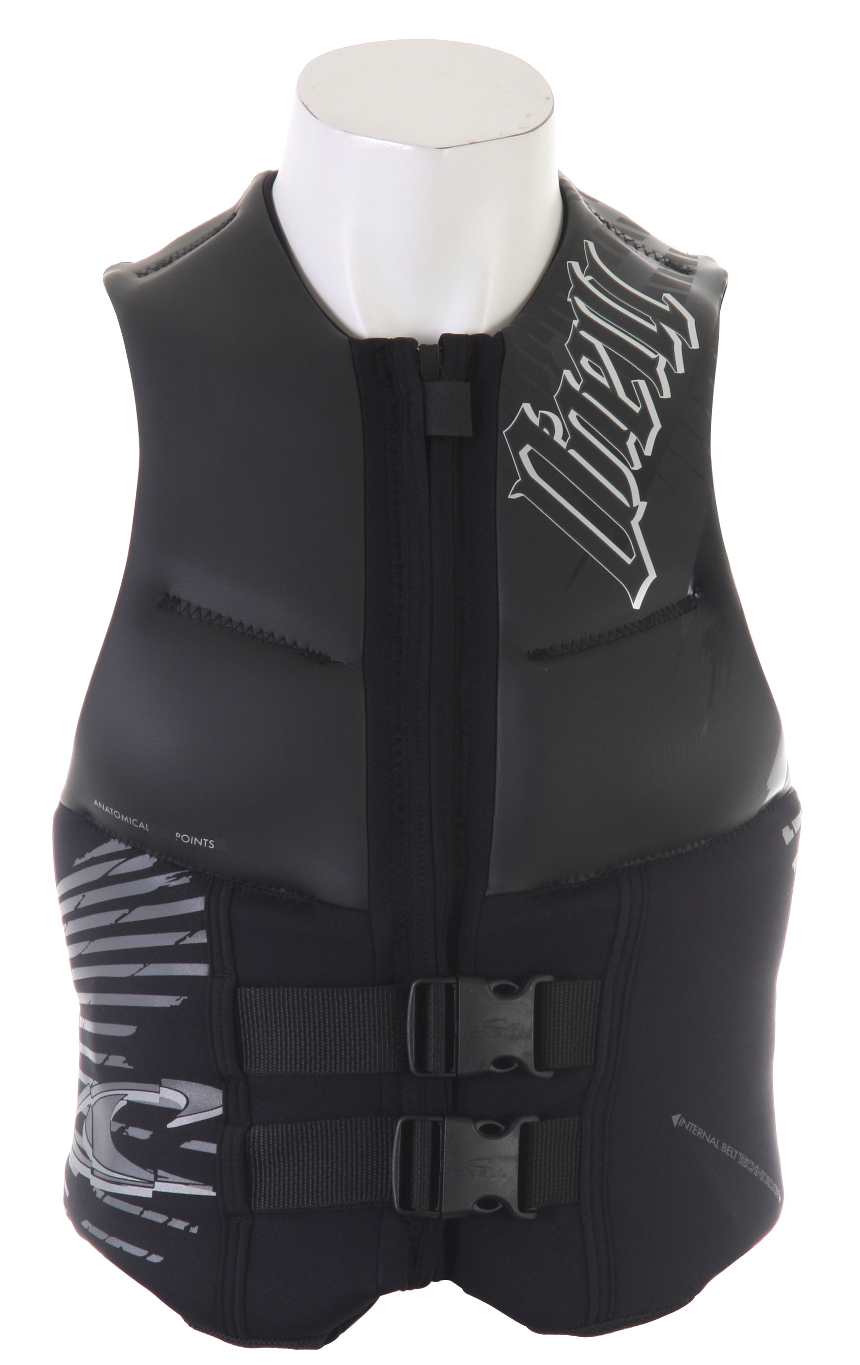 Wake The O'Neill Outlaw model full size comp vest provides a highly mobile and low impact design that fits perfectly while still offering excellent flexibility. The unique styling is cool and modern, very sleek with minimal excess. Flex guards are placed at specific locations to avoid having this comp vest get in the way, and it's lightweight foam core base material will keep you above water when you need it to most. The Outlaw is perfect for a wakeboarder looking for a sleek and modern front buckle safety vest that won't get in the way.Key Features of the O'Neill Outlaw Comp Wakeboard Vest: Comp Vest Anatomical flex points Segmented foam core Concealed belt system Minimal bulk Wind resistant glideskin Lightweight fluid foam Integrated dual belt Quick-release dual safety buckles - $72.95